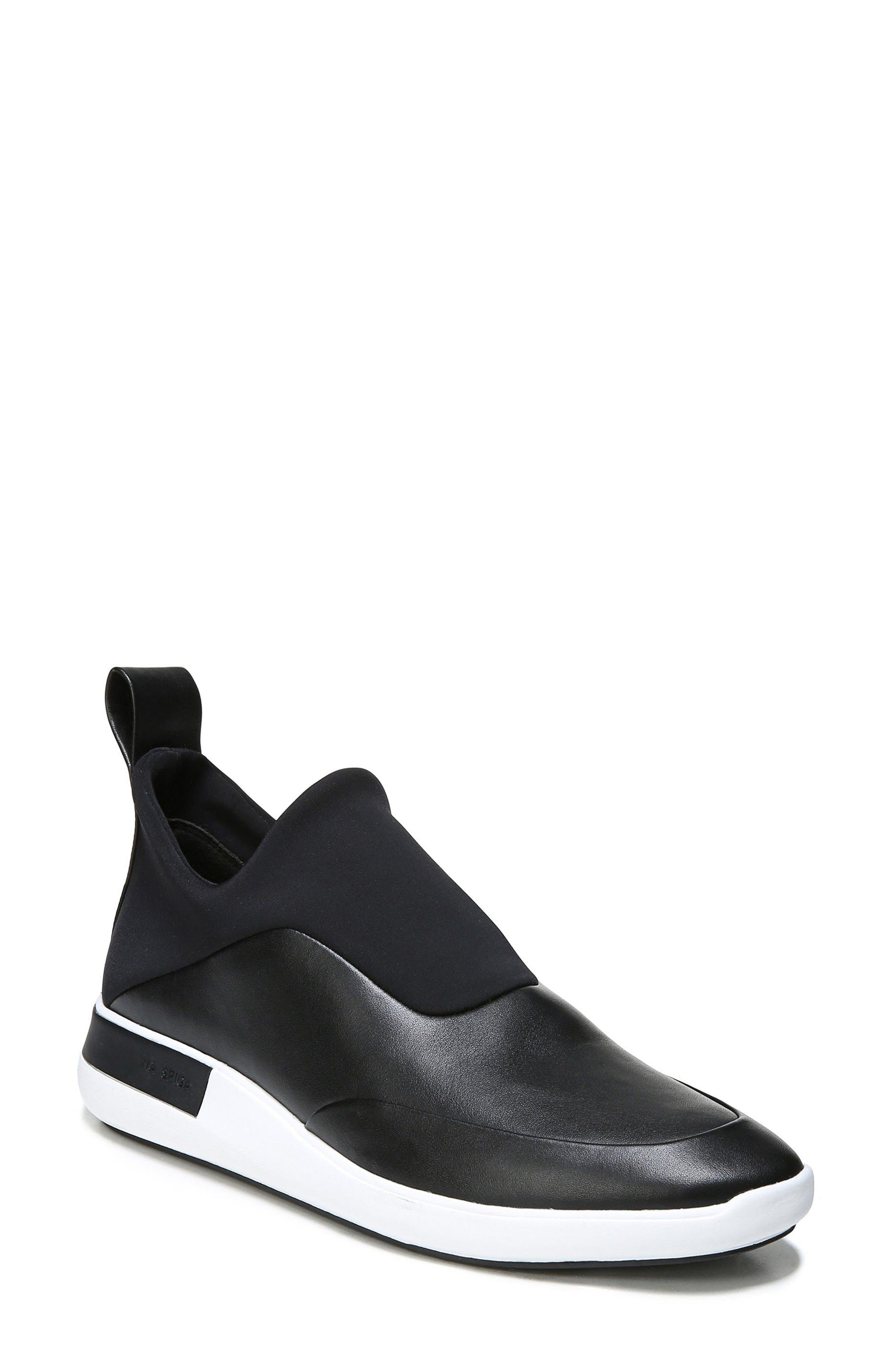 Mercer Slip-On Sneaker,                             Main thumbnail 1, color,                             Black Leather