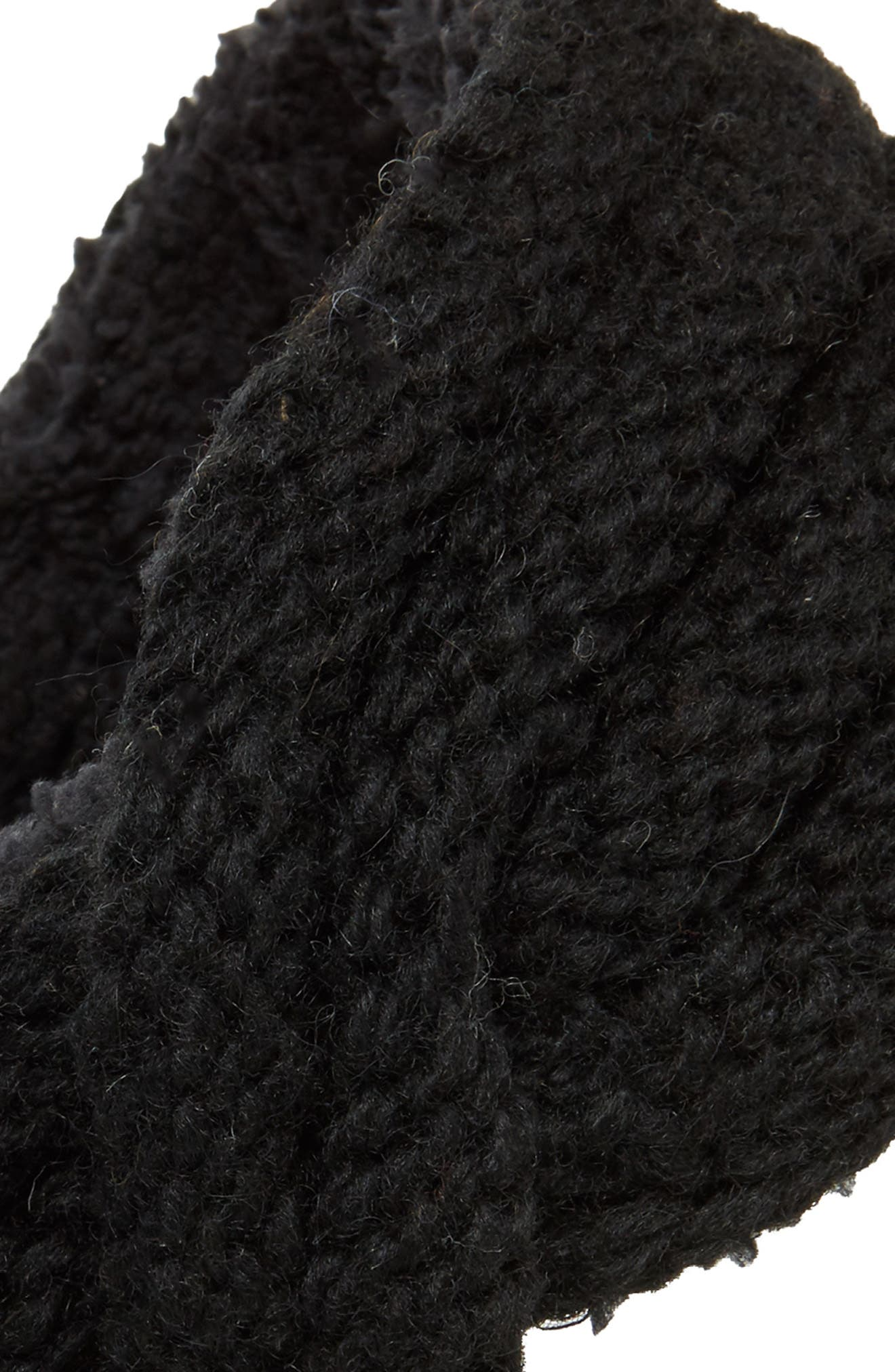 Veronica Cabled Wool Headband,                             Alternate thumbnail 2, color,                             Black