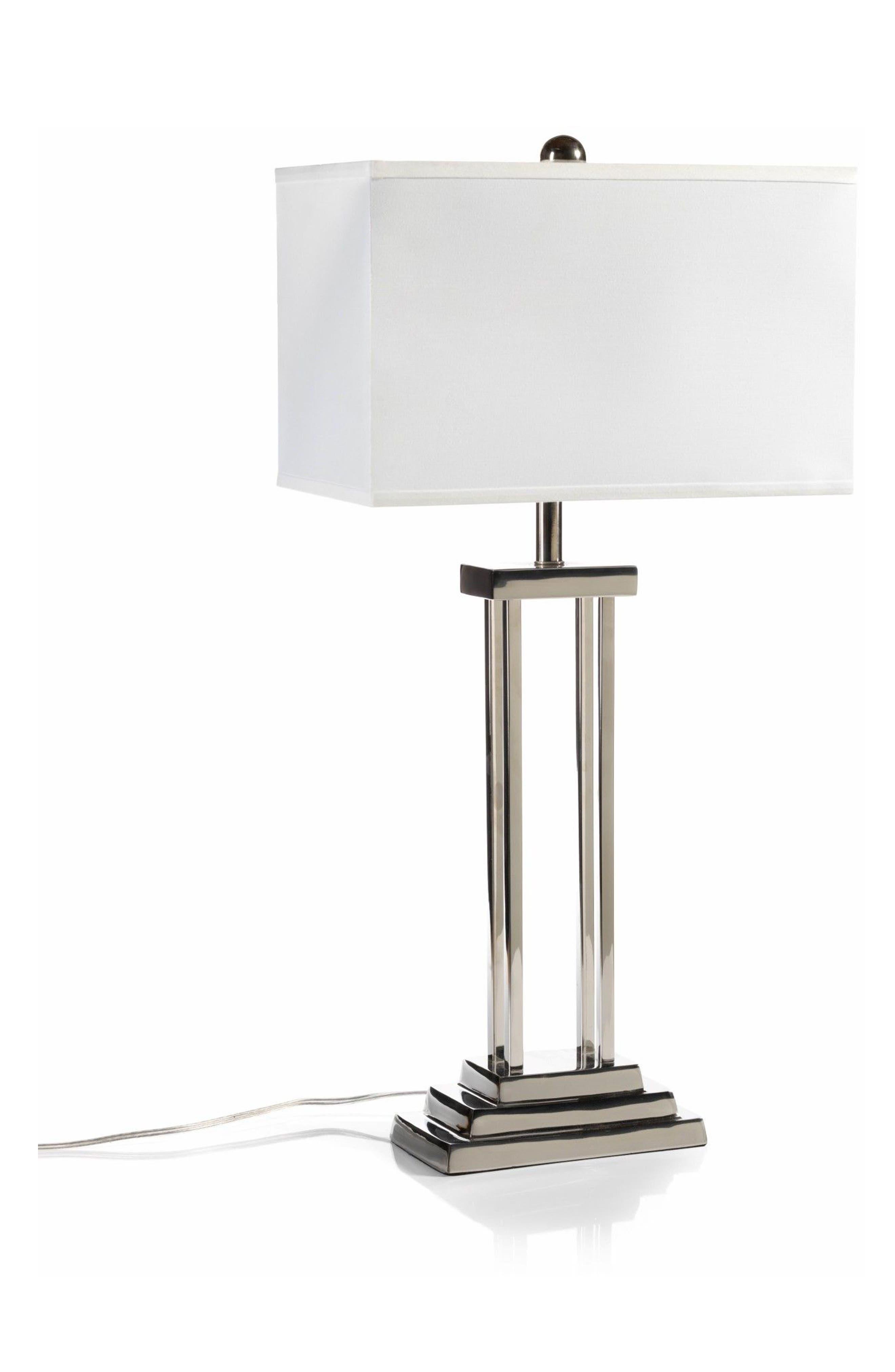 Porto Table Lamp,                         Main,                         color, Silver/ White