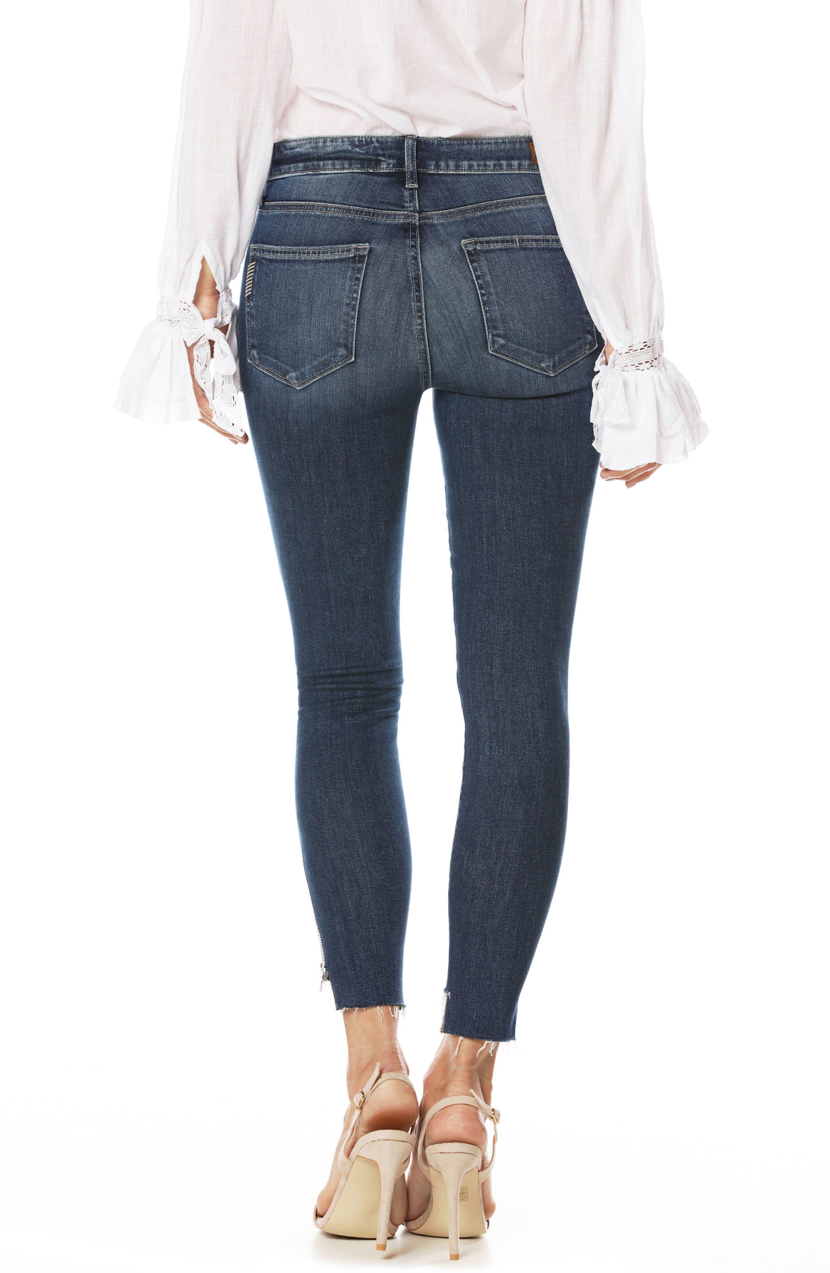 Alternate Image 3  - PAIGE Transcend Vintage - Hoxton High Waist Ankle Straight Leg Jeans (Malibu)