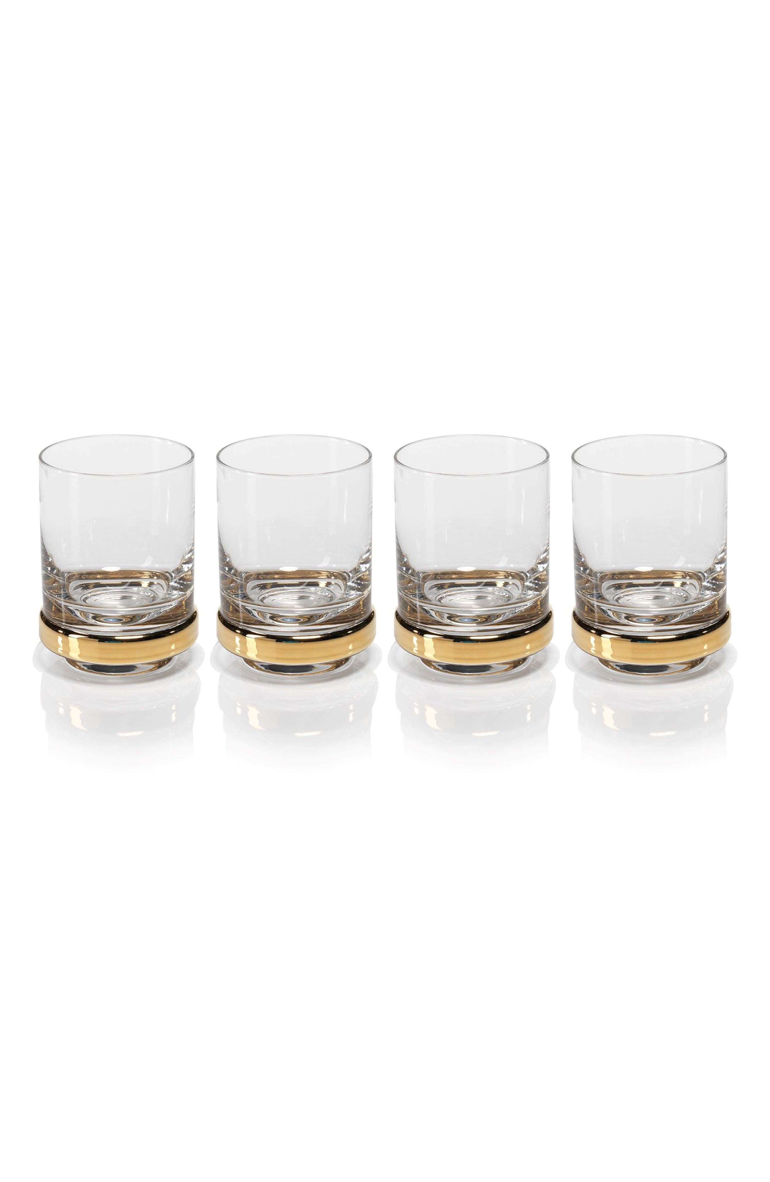 Artu Set of 4 Double Old Fashioned Glasses,                         Main,                         color, Gold