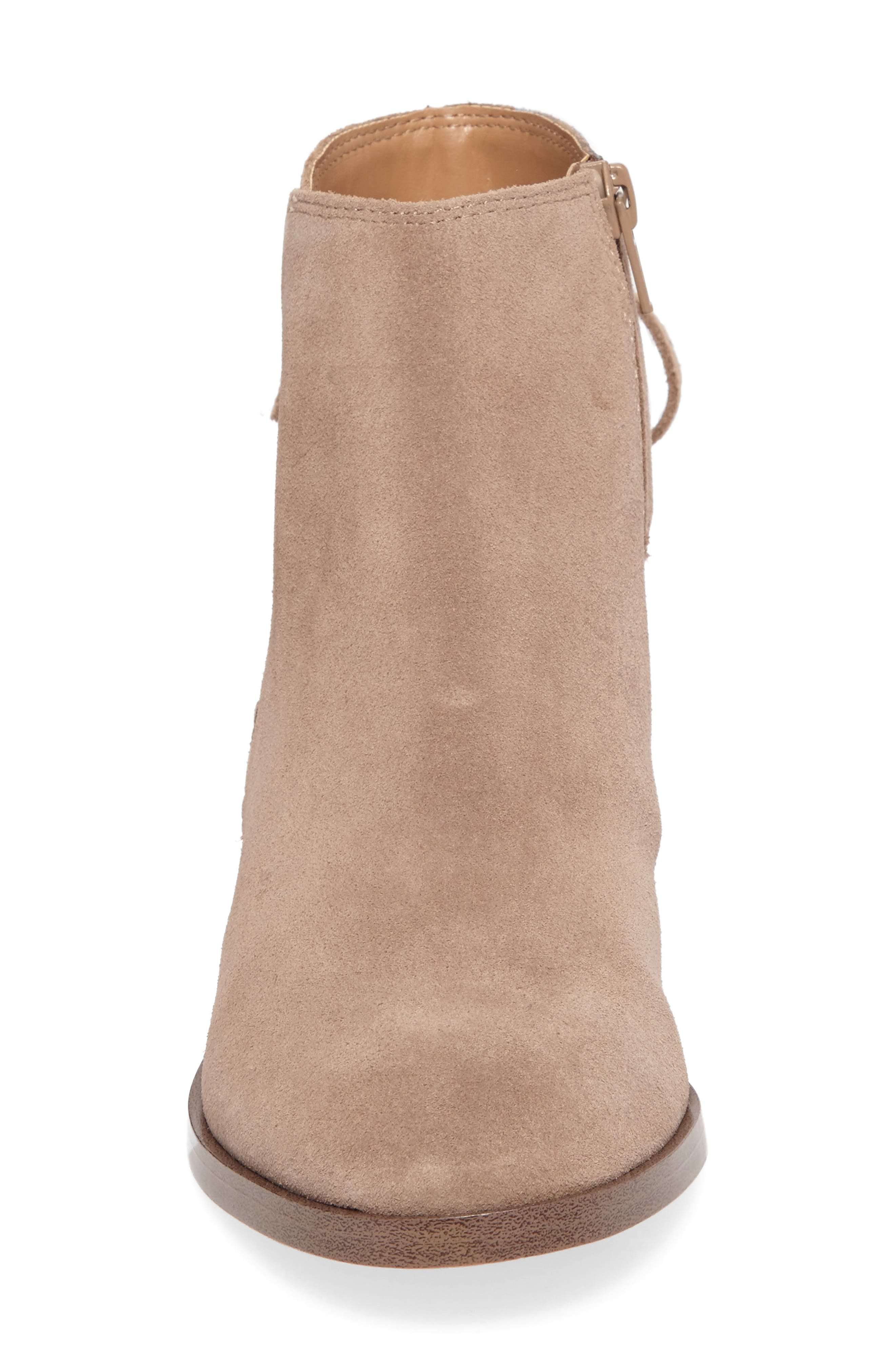 Lachlan Tie Back Bootie,                             Alternate thumbnail 4, color,                             Taupe
