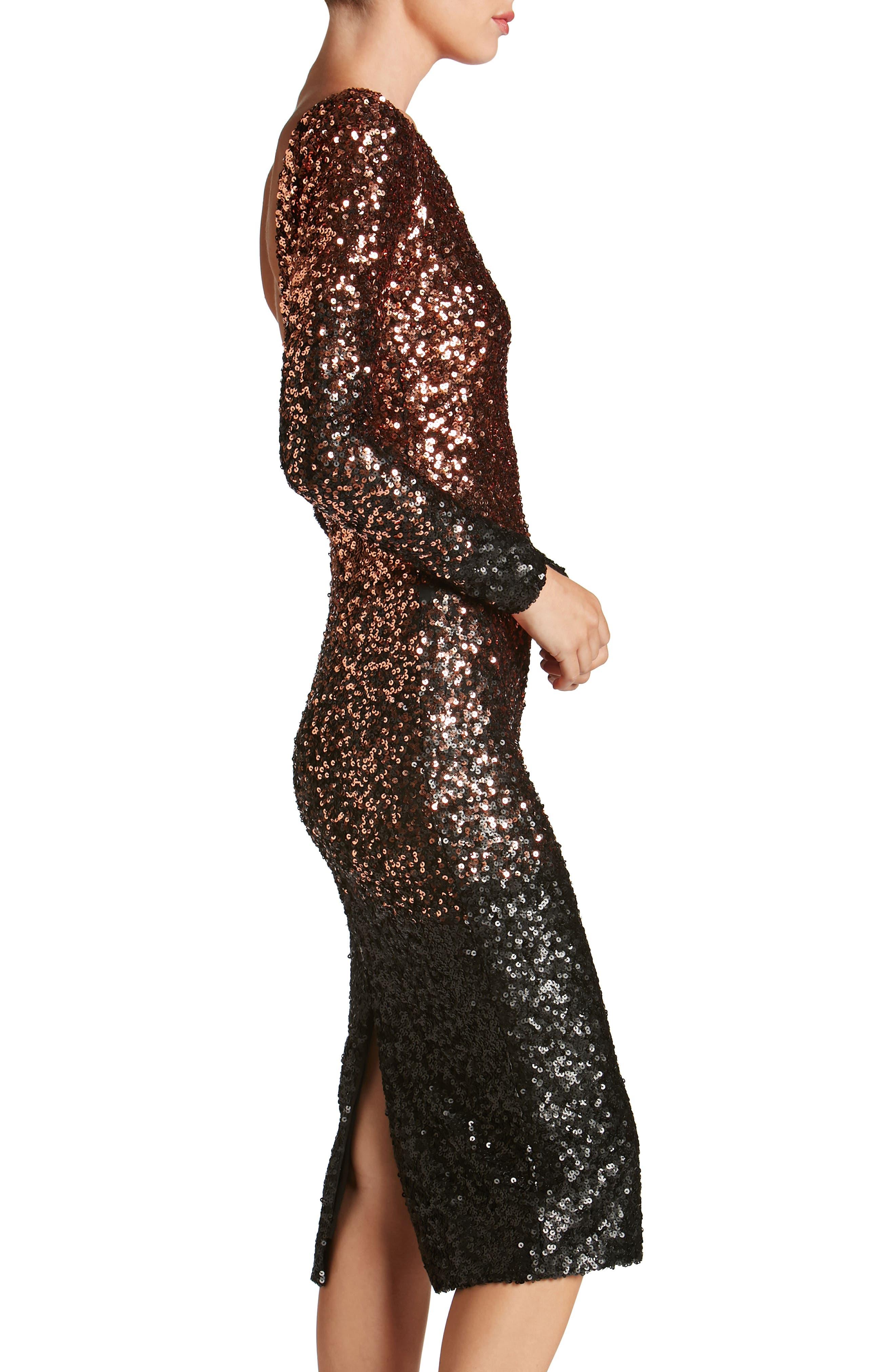 Alternate Image 4  - Dress the Population Emery Ombré Sequin Body-Con Dress