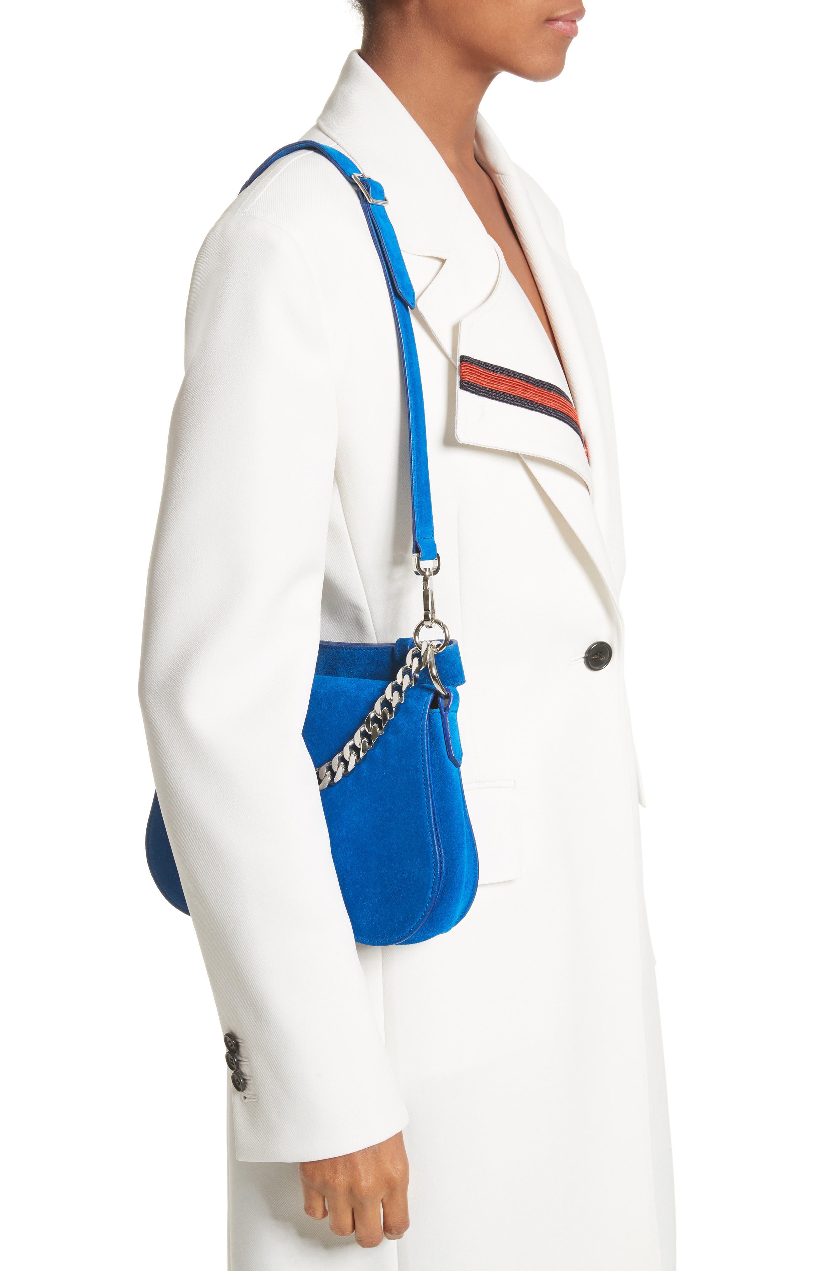 Alternate Image 2  - CALVIN KLEIN 205W39NYC Small Suede Shoulder Bag