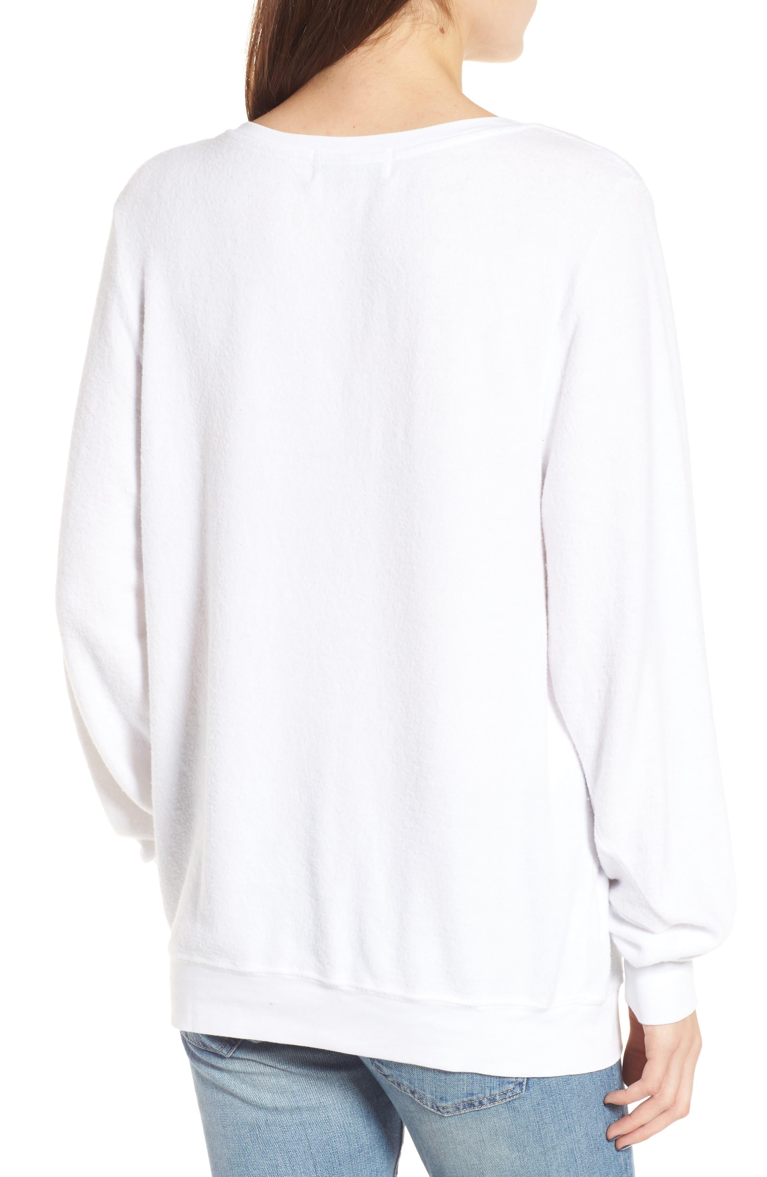 Stay Cool Polar Bear Sweatshirt,                             Alternate thumbnail 2, color,                             Clean White