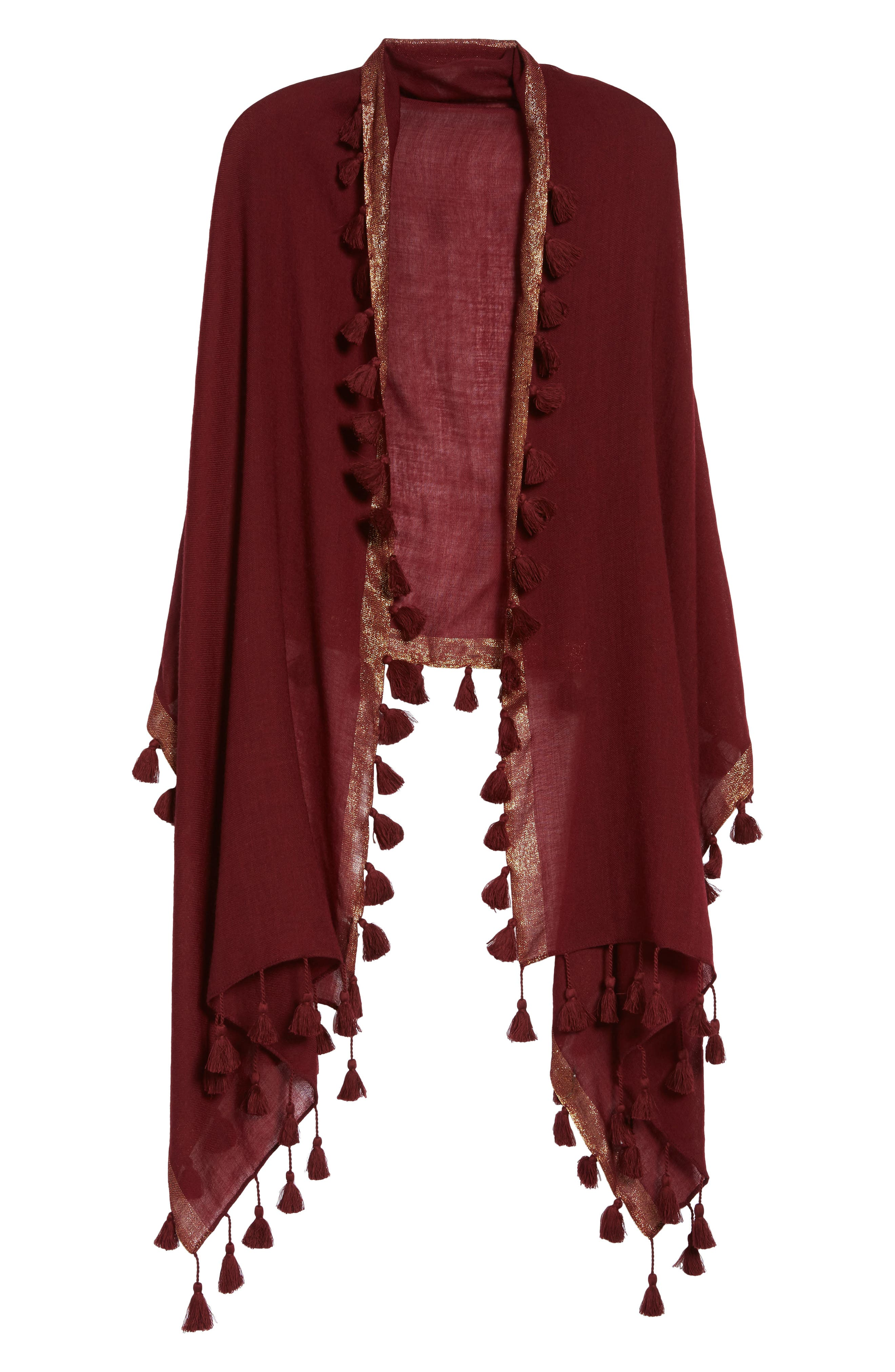 Eileen Fisher Metallic Wool Wrap