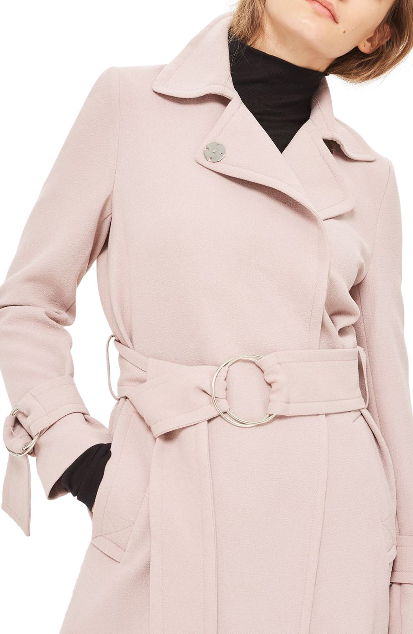Alternate Image 3  - Topshop Daisy Crepe Truster Trench Coat