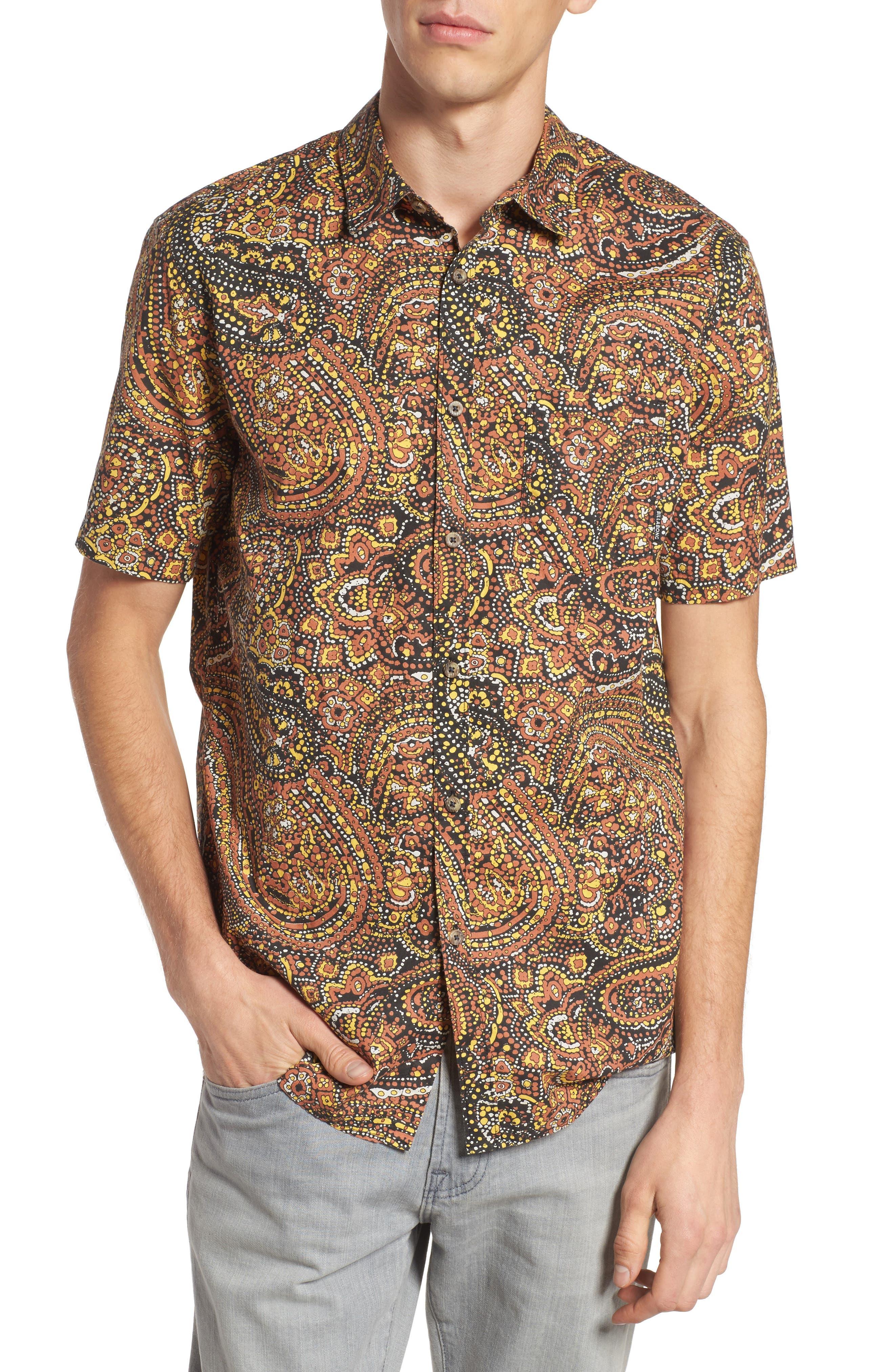 Sundays Woven Shirt,                         Main,                         color, Brick