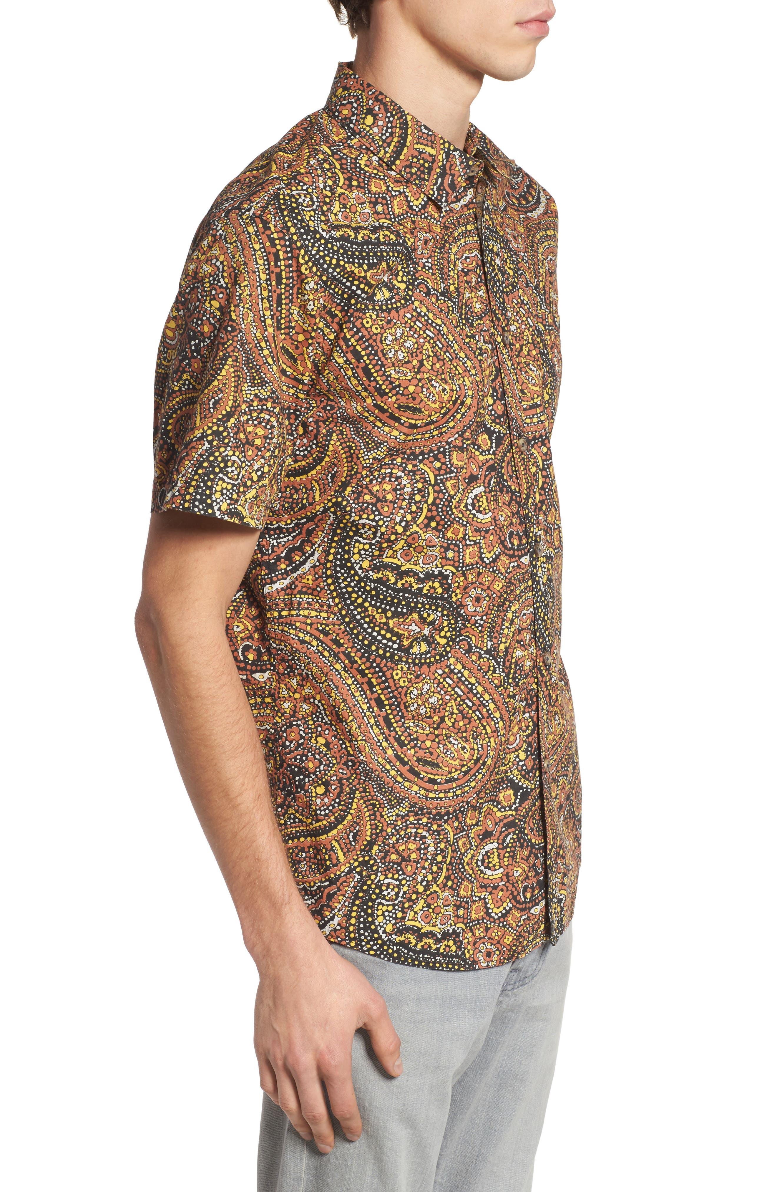 Sundays Woven Shirt,                             Alternate thumbnail 3, color,                             Brick