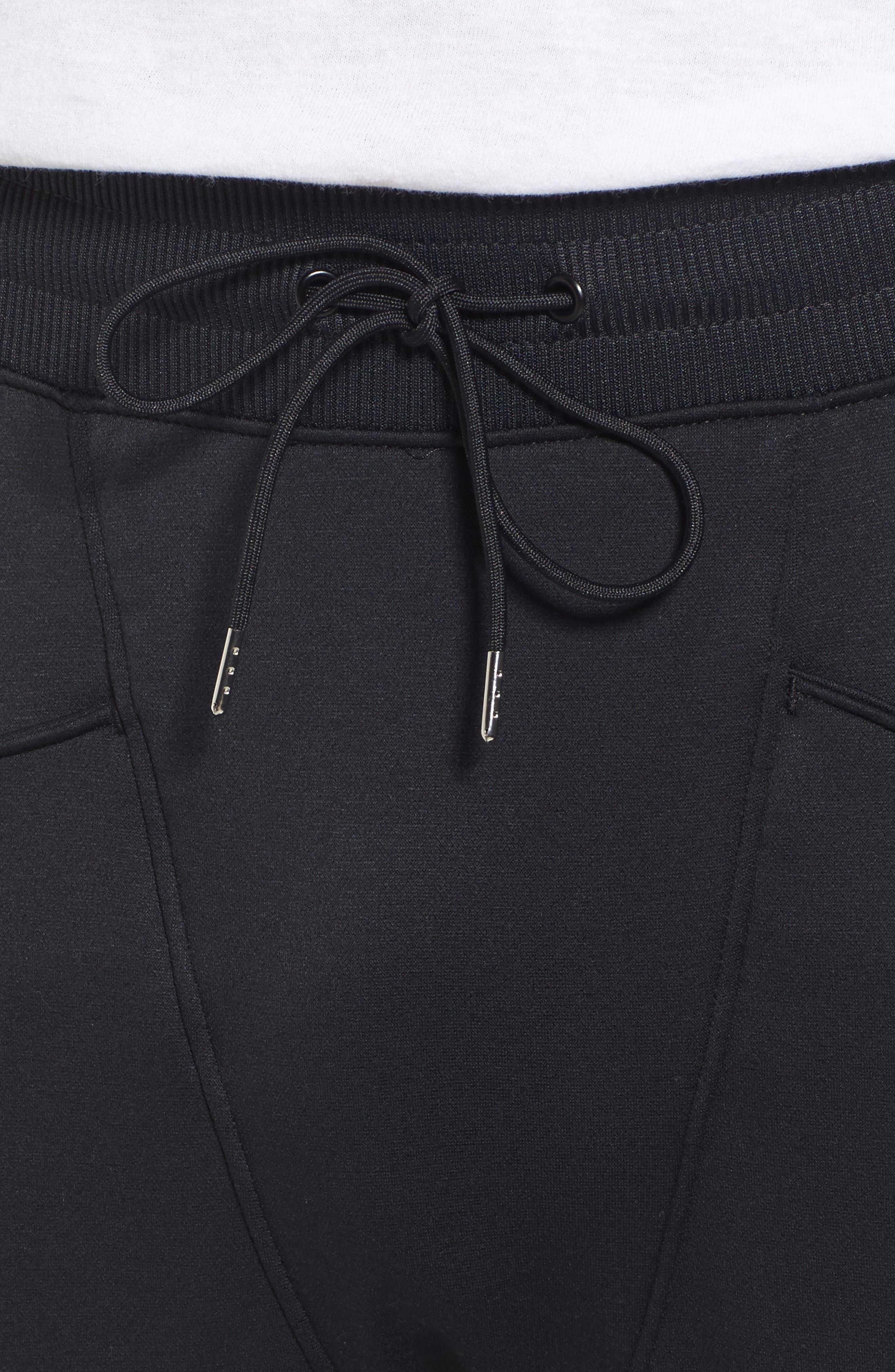 Courtside Training Pants,                             Alternate thumbnail 4, color,                             Black / Black / Black