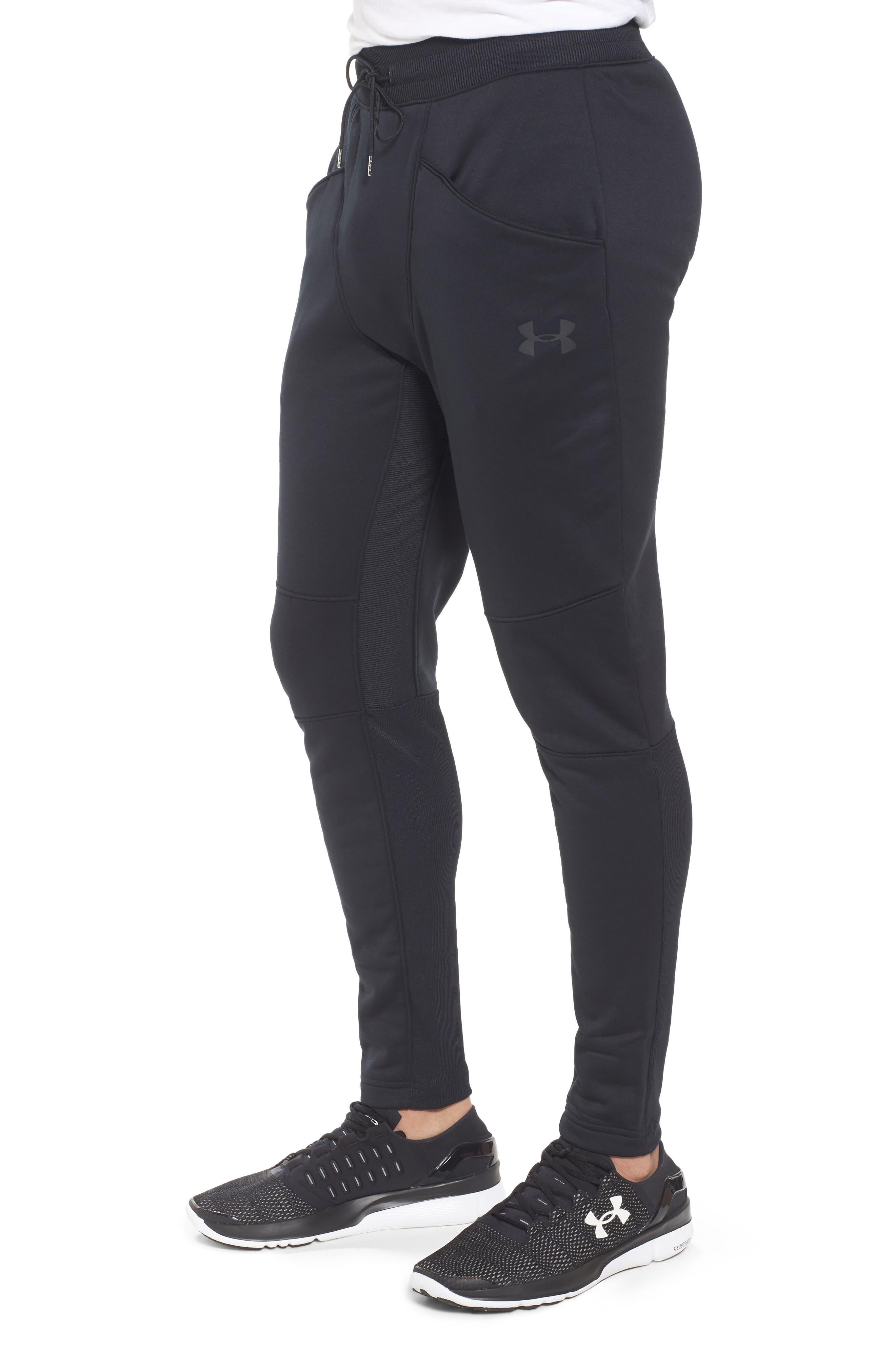 Courtside Training Pants,                             Alternate thumbnail 3, color,                             Black / Black / Black