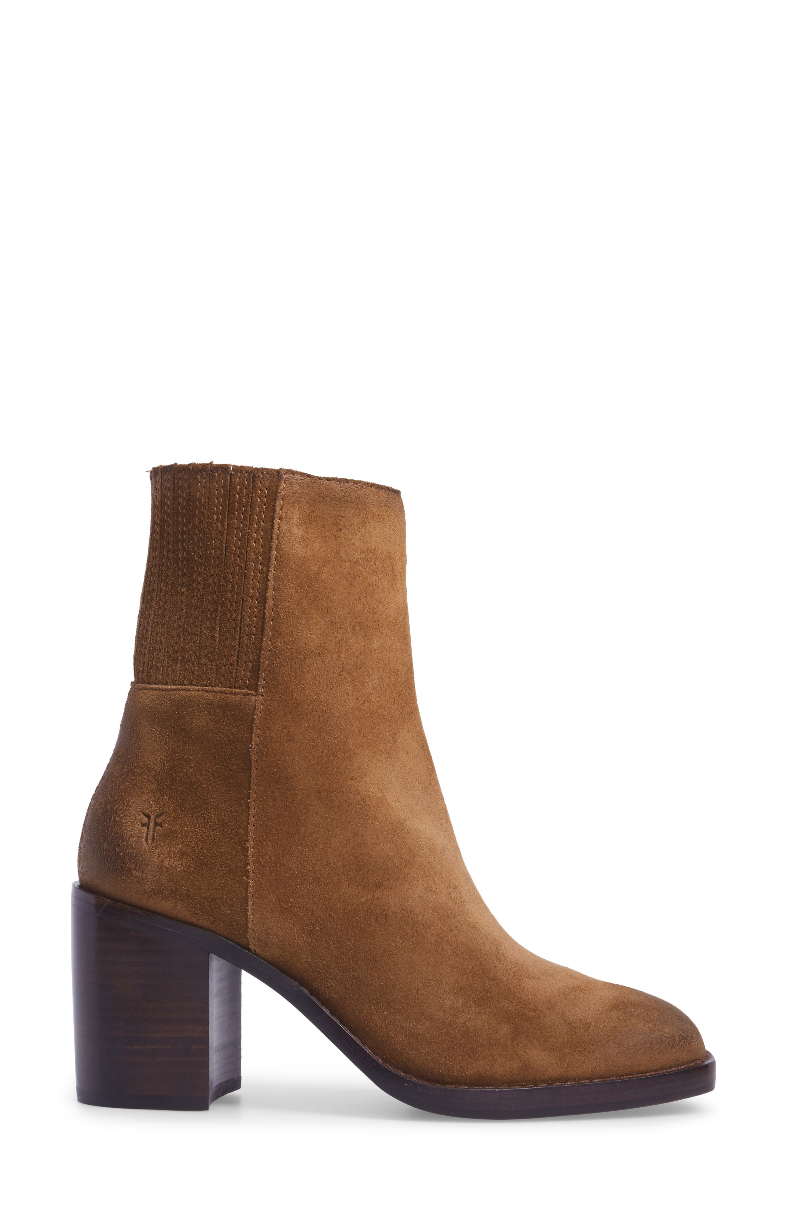 Pia Boot,                             Alternate thumbnail 3, color,                             Chestnut Suede