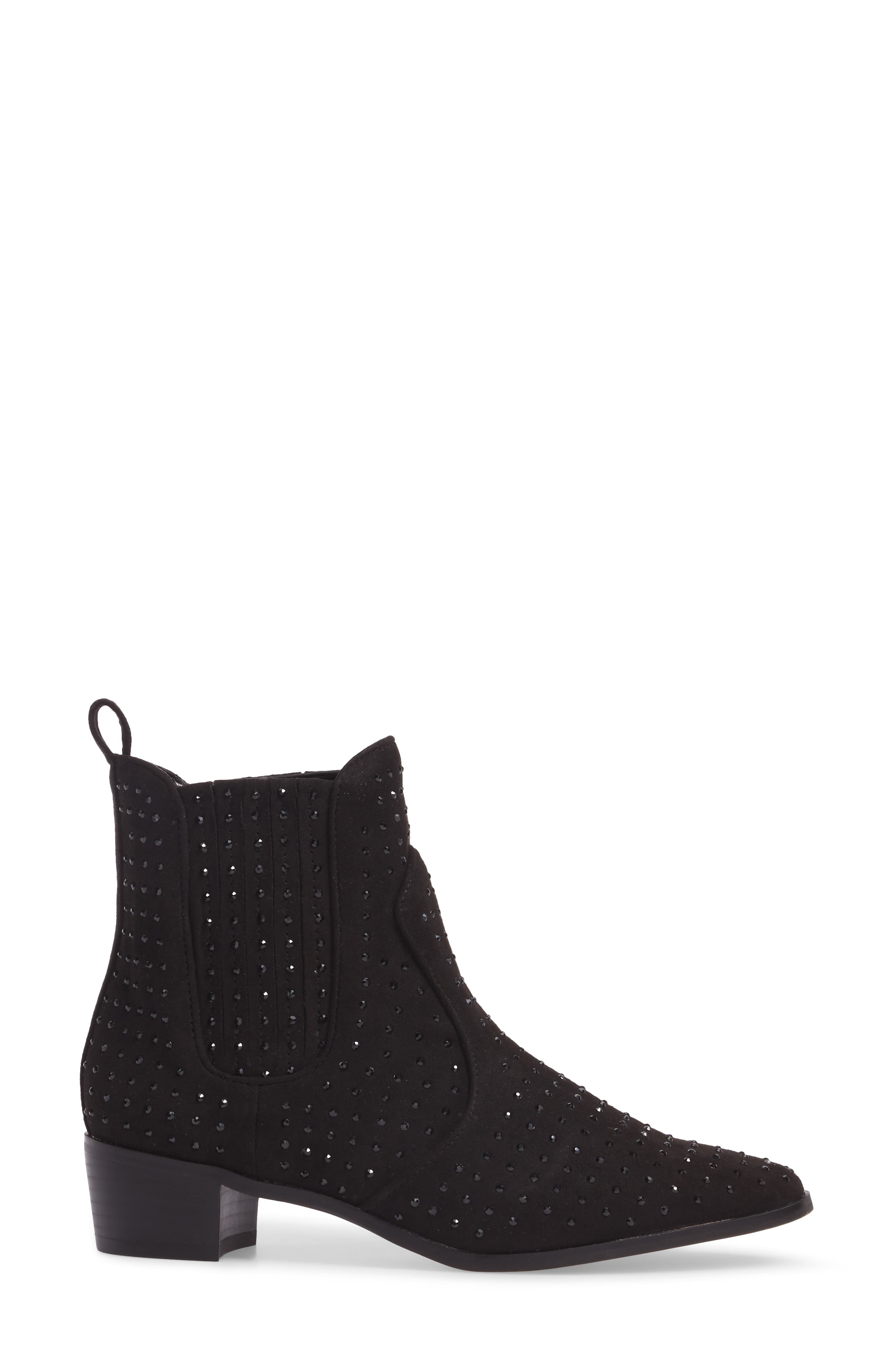 Ryan Bootie,                             Alternate thumbnail 3, color,                             Black Suede