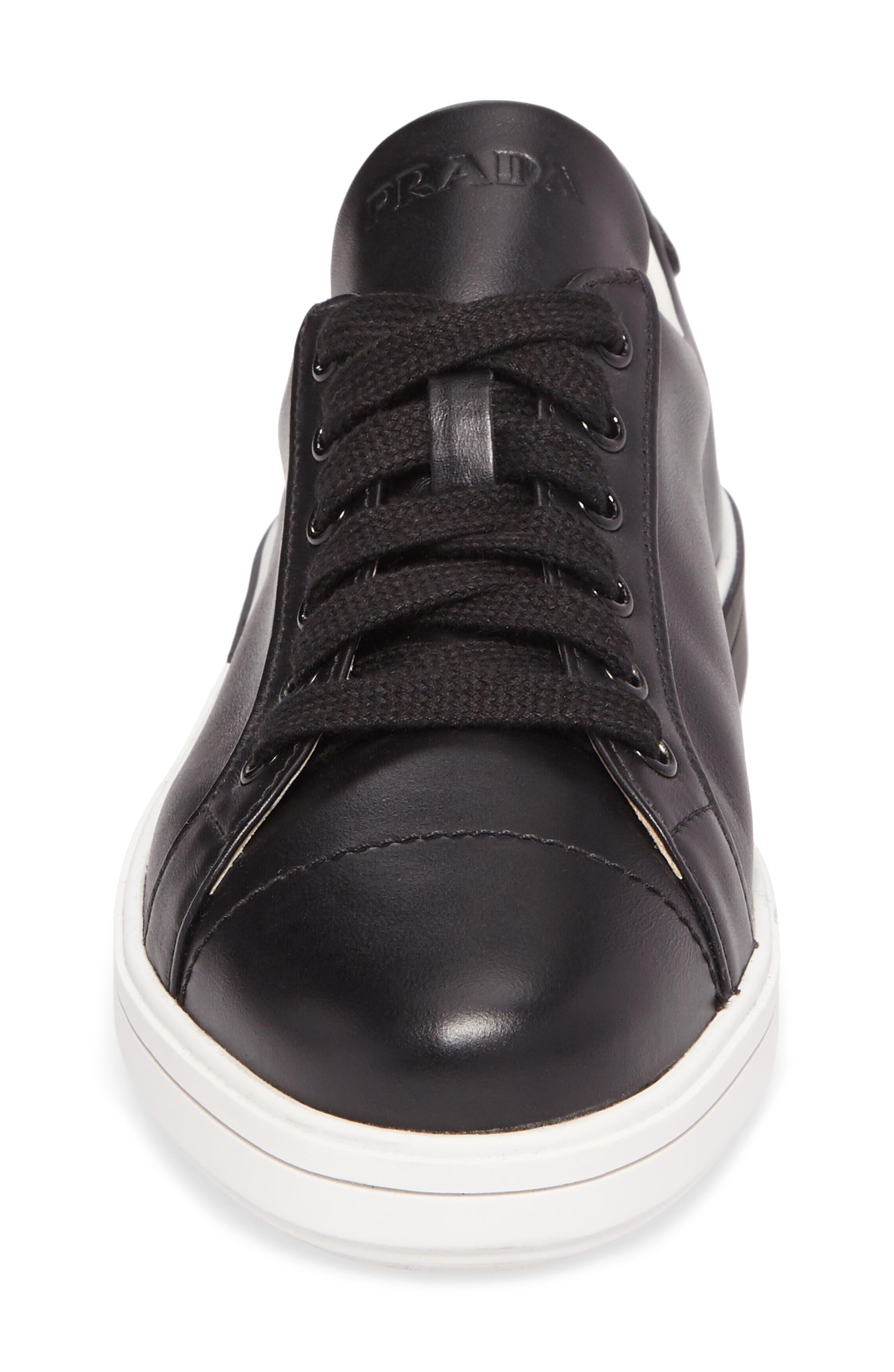 Logo Low Top Sneaker,                             Alternate thumbnail 4, color,                             Black/ White