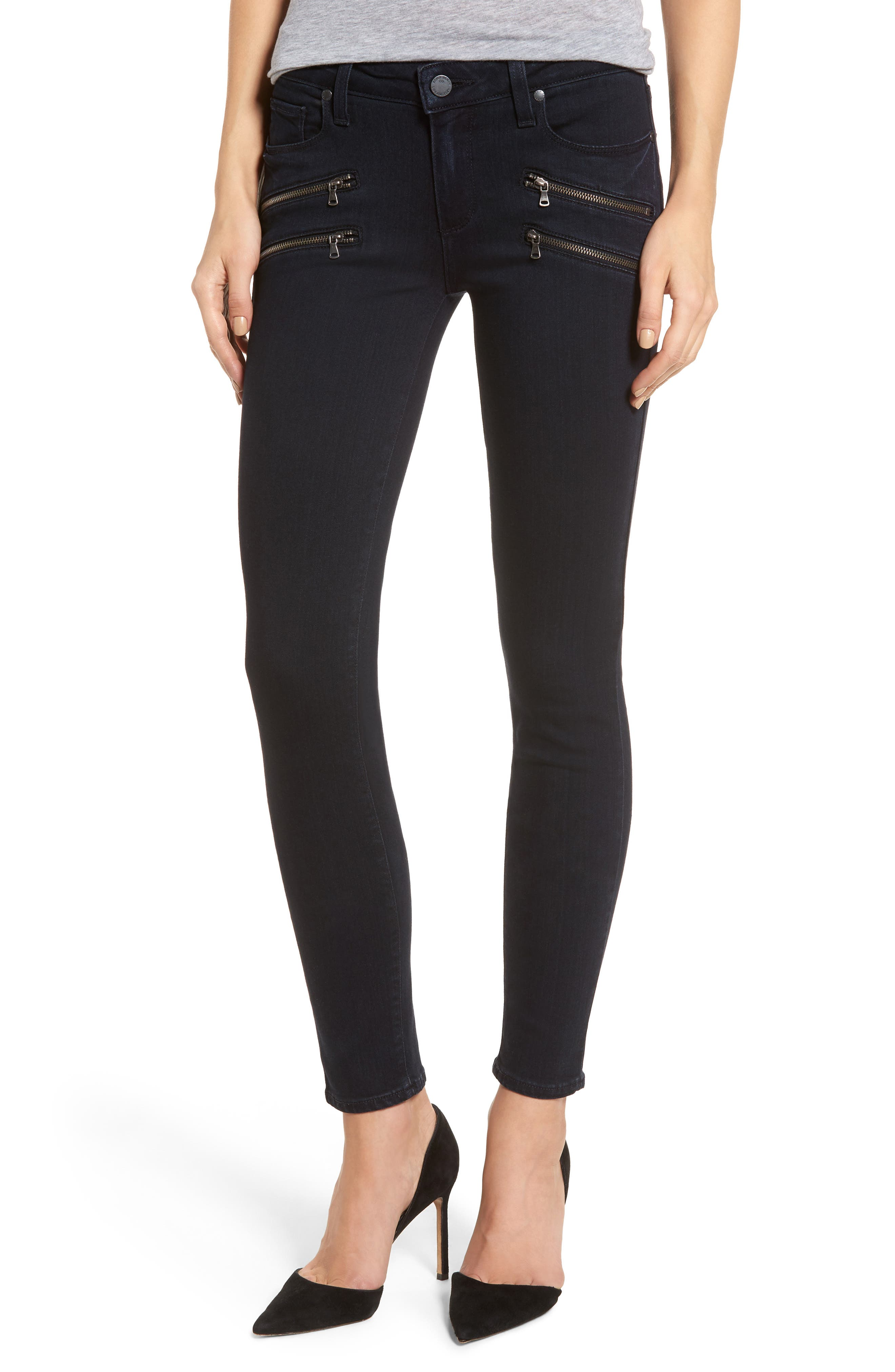 PAIGE Transcend - Edgemont Ultra Skinny Jeans (Cherie)