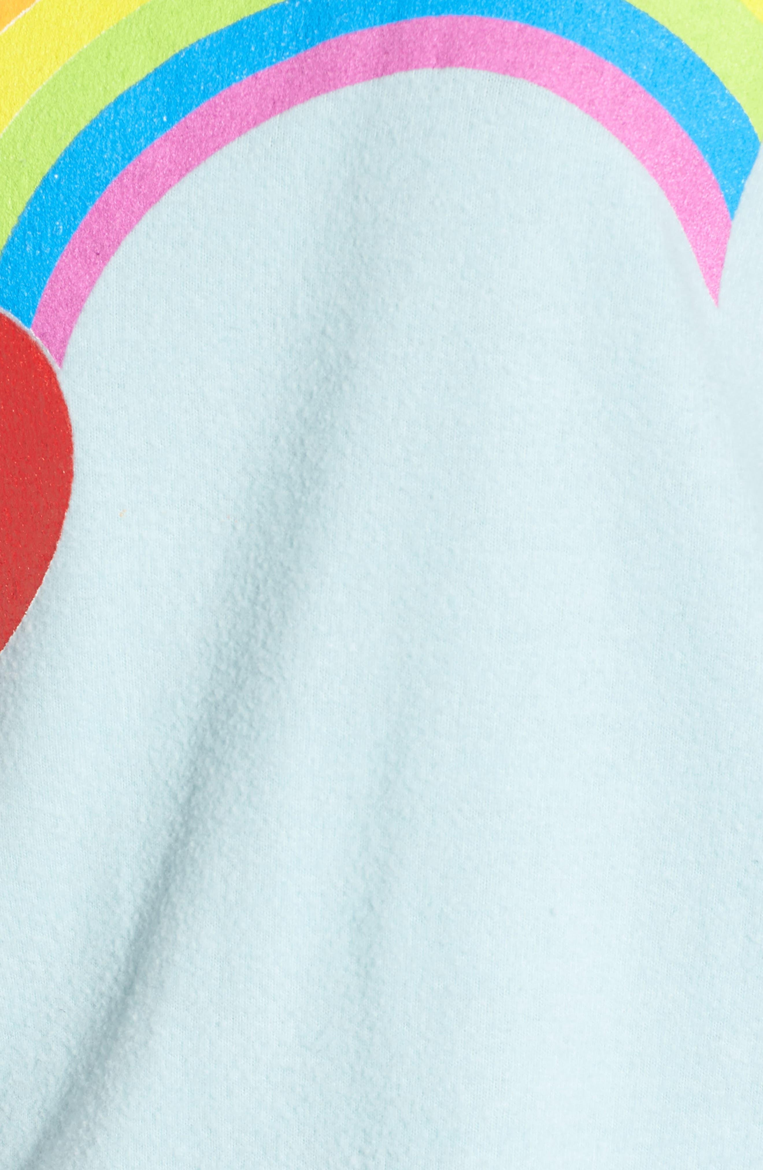 Rainbow Bright Sweatshirt,                             Alternate thumbnail 5, color,                             Honolulu Blue