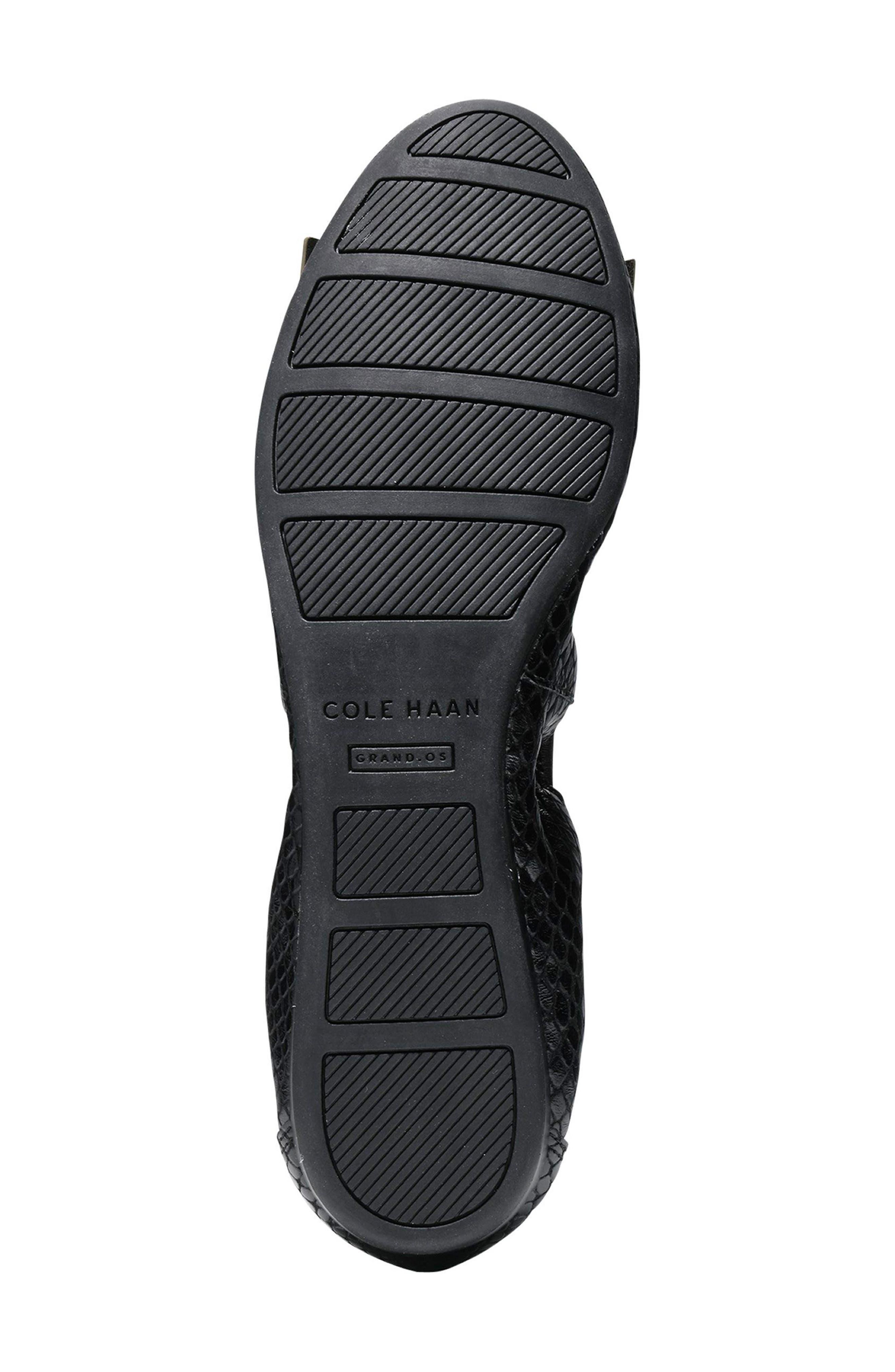 'Tali' Bow Ballet Flat,                             Alternate thumbnail 5, color,                             Black Snake Print Leather