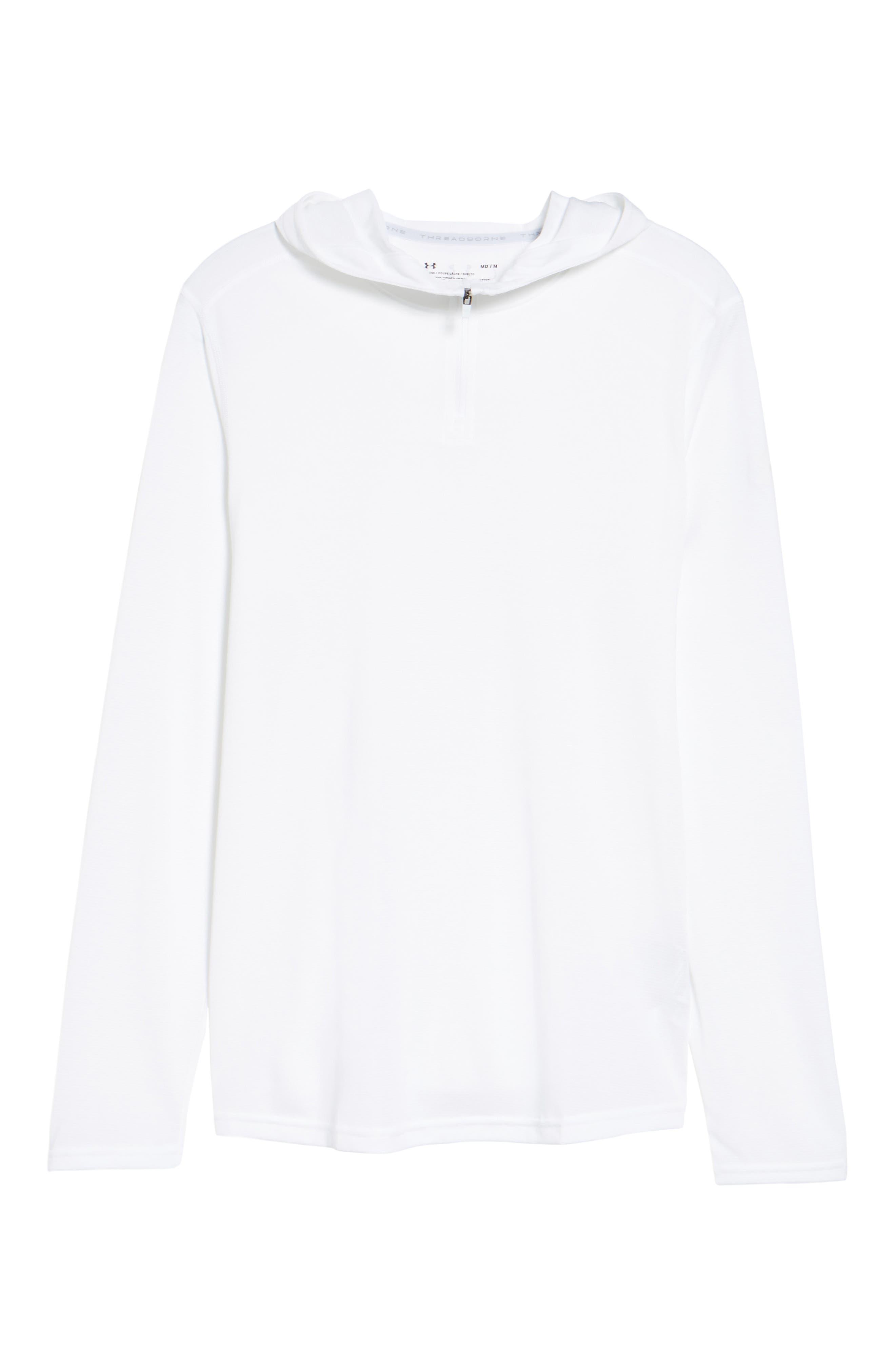 Threadborne Mesh Knit Hoodie,                         Main,                         color, White