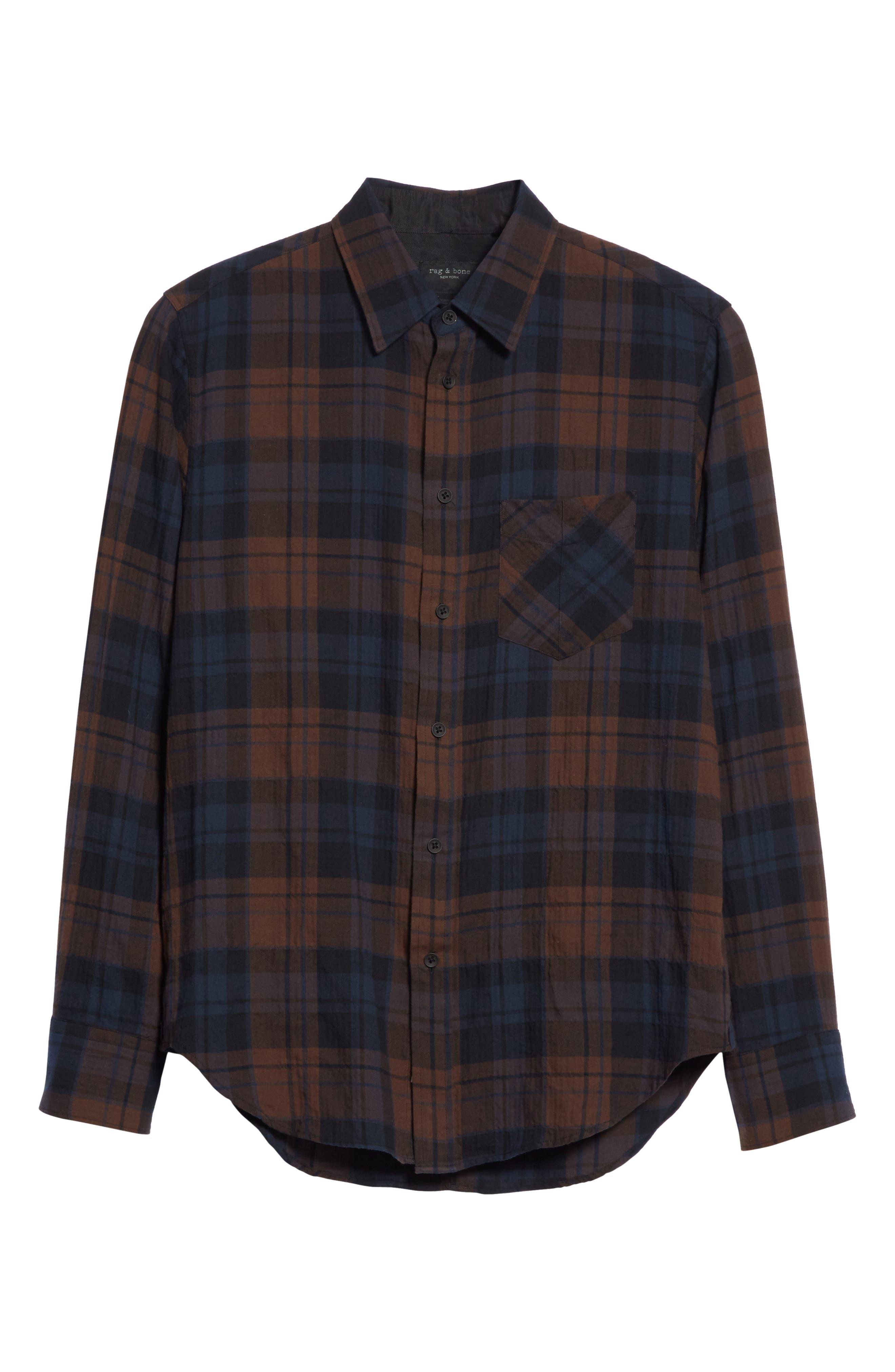 Alternate Image 6  - rag & bone Fit 3 Base Flannel Shirt