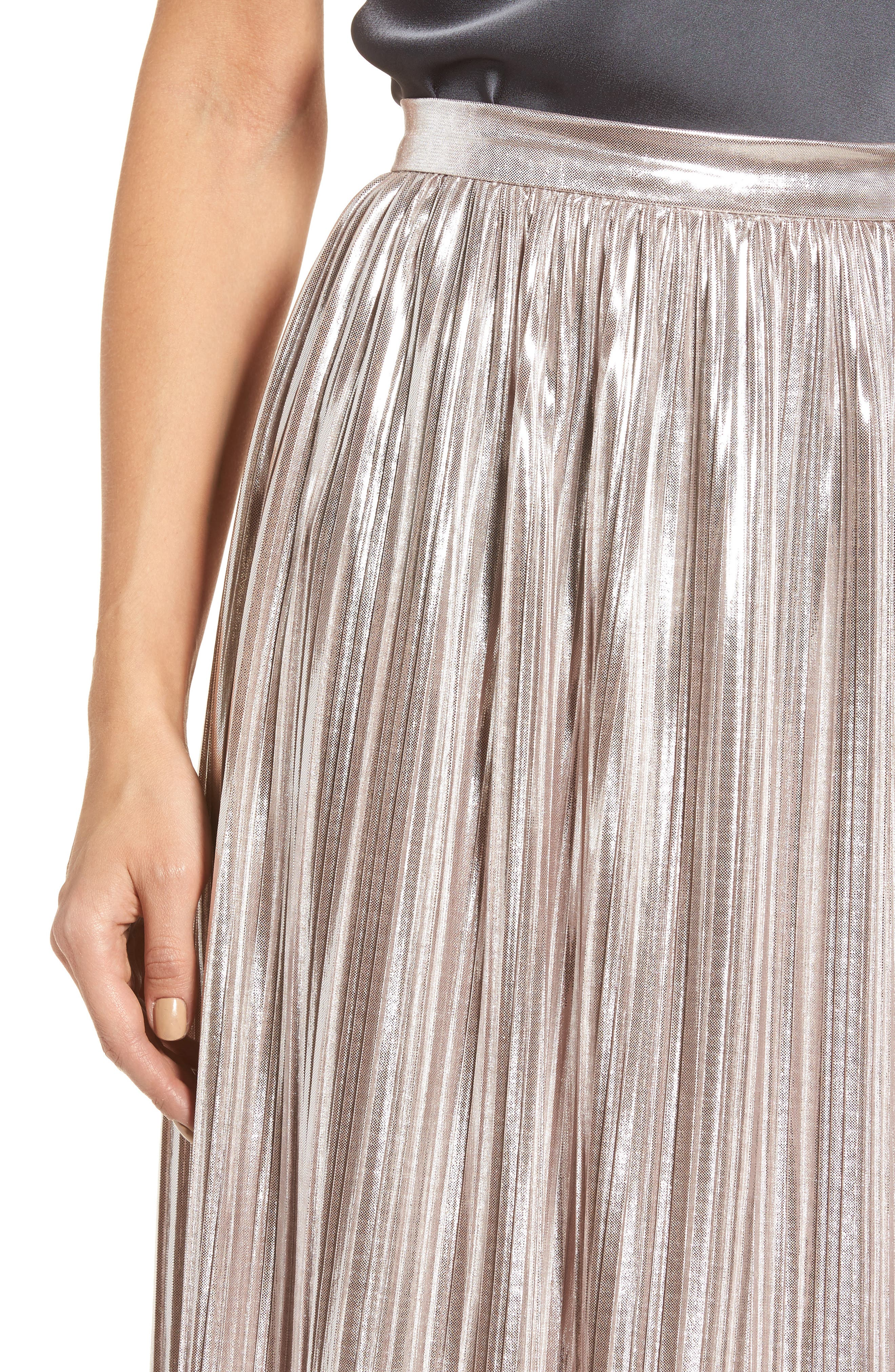 Morgan Pleat Skirt,                             Alternate thumbnail 4, color,                             Lilas
