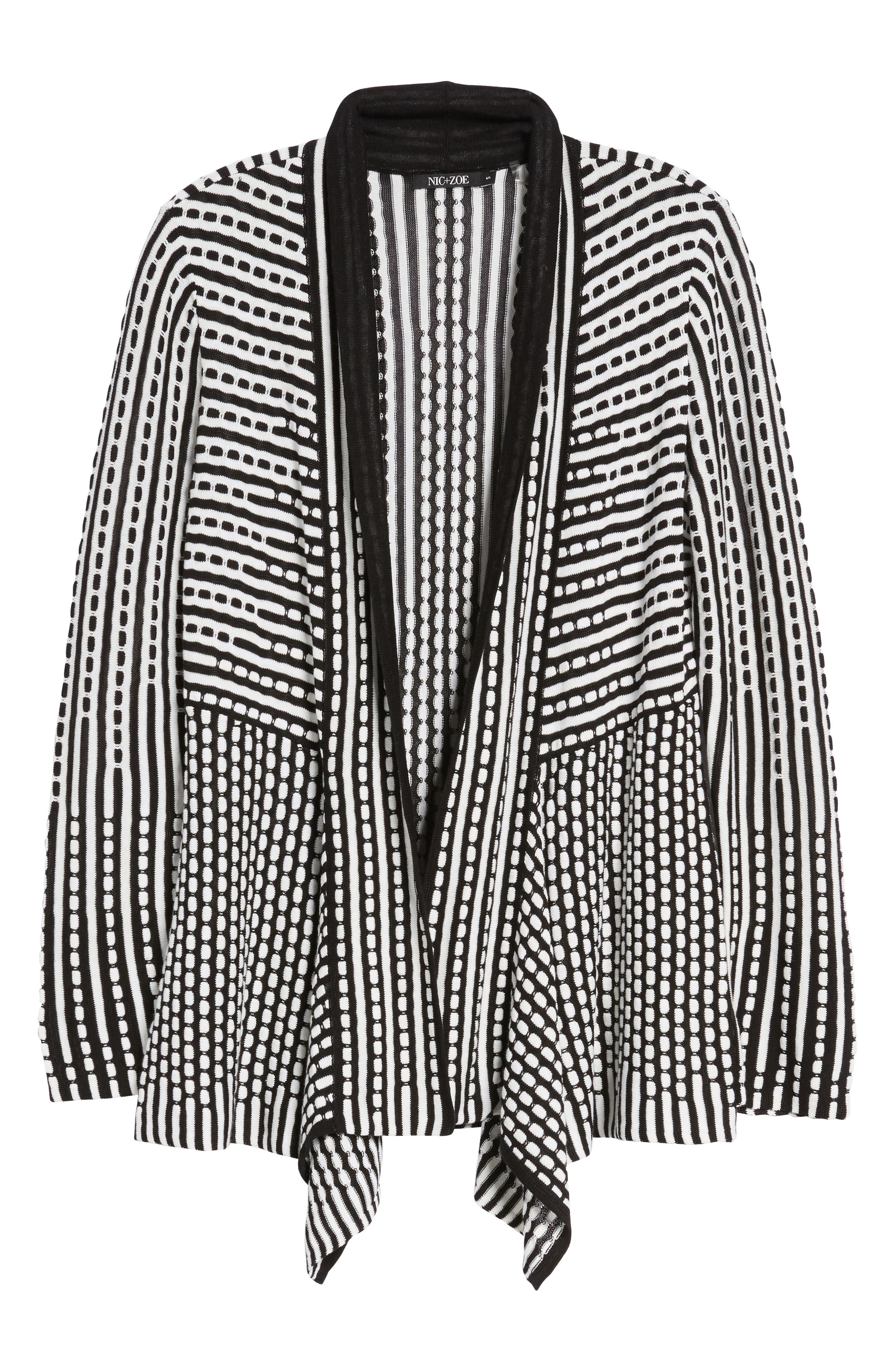 Ground Breaking Cardigan,                             Alternate thumbnail 6, color,                             Black Multi