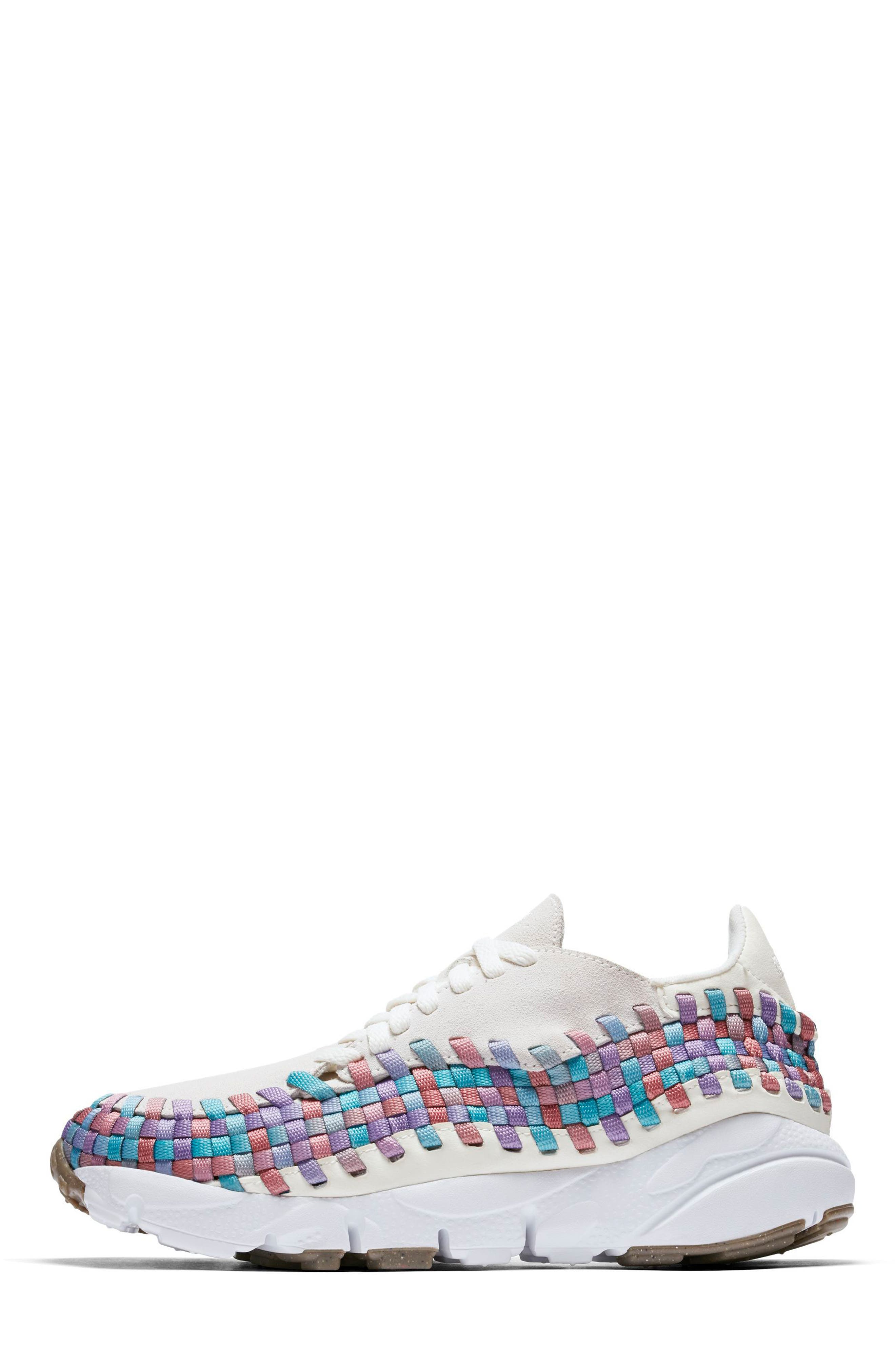 Air Footscape Woven Sneaker,                             Alternate thumbnail 2, color,                             Sail/ White/ Red/ Teal/ Gum