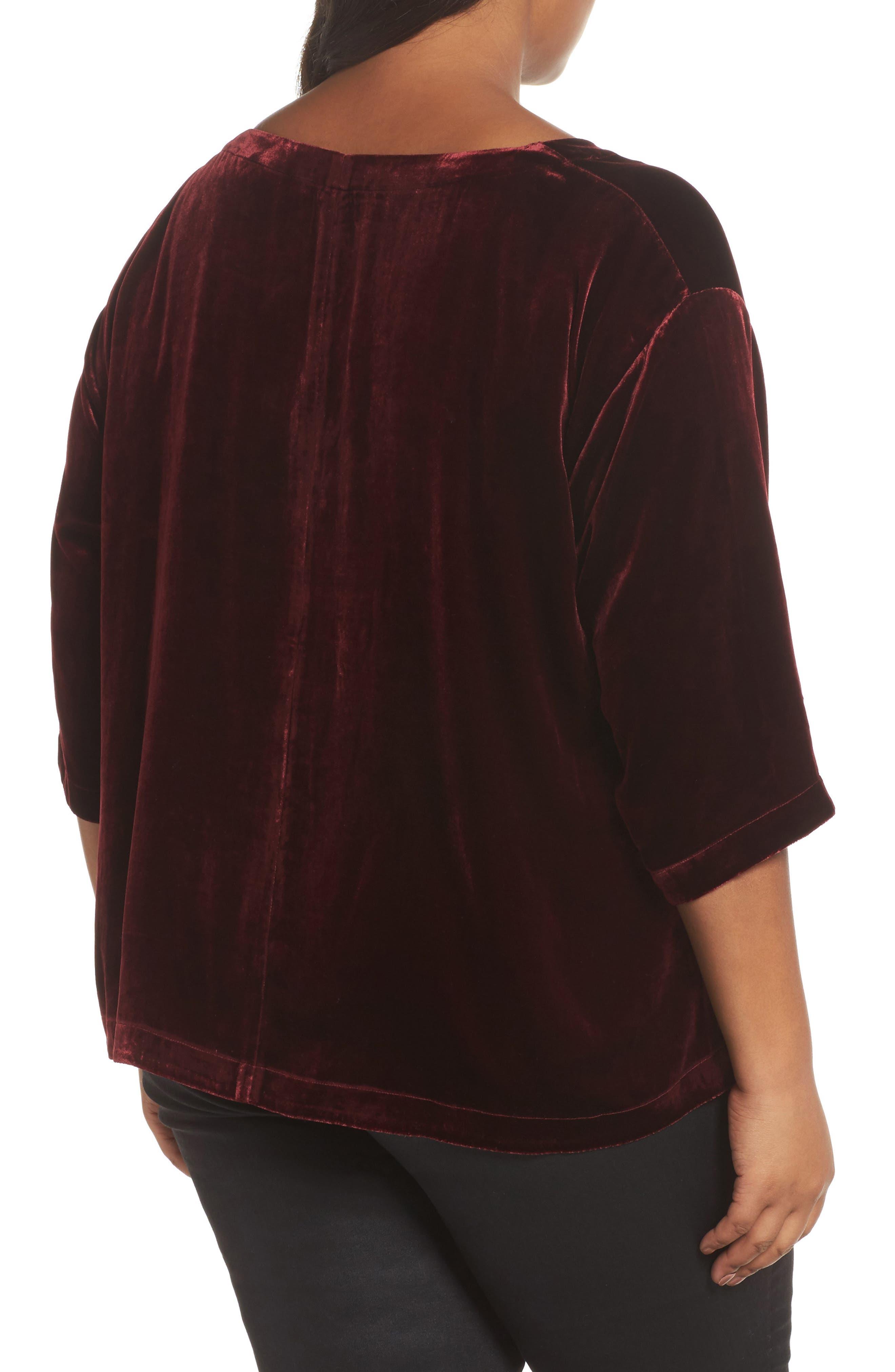 Alternate Image 2  - Eileen Fisher Boxy Velvet Top (Plus Size)
