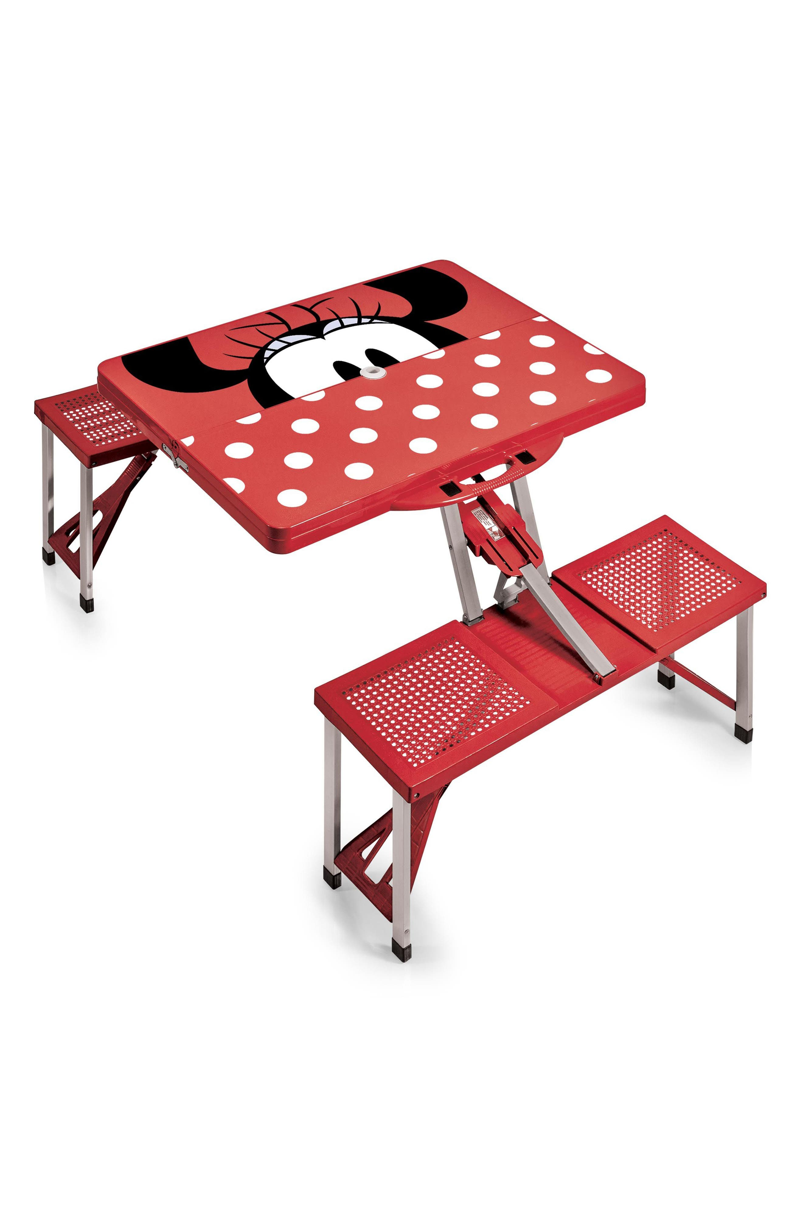 Disney<sup>®</sup> Mickey Mouse Portable Folding Table,                             Alternate thumbnail 4, color,                             Red
