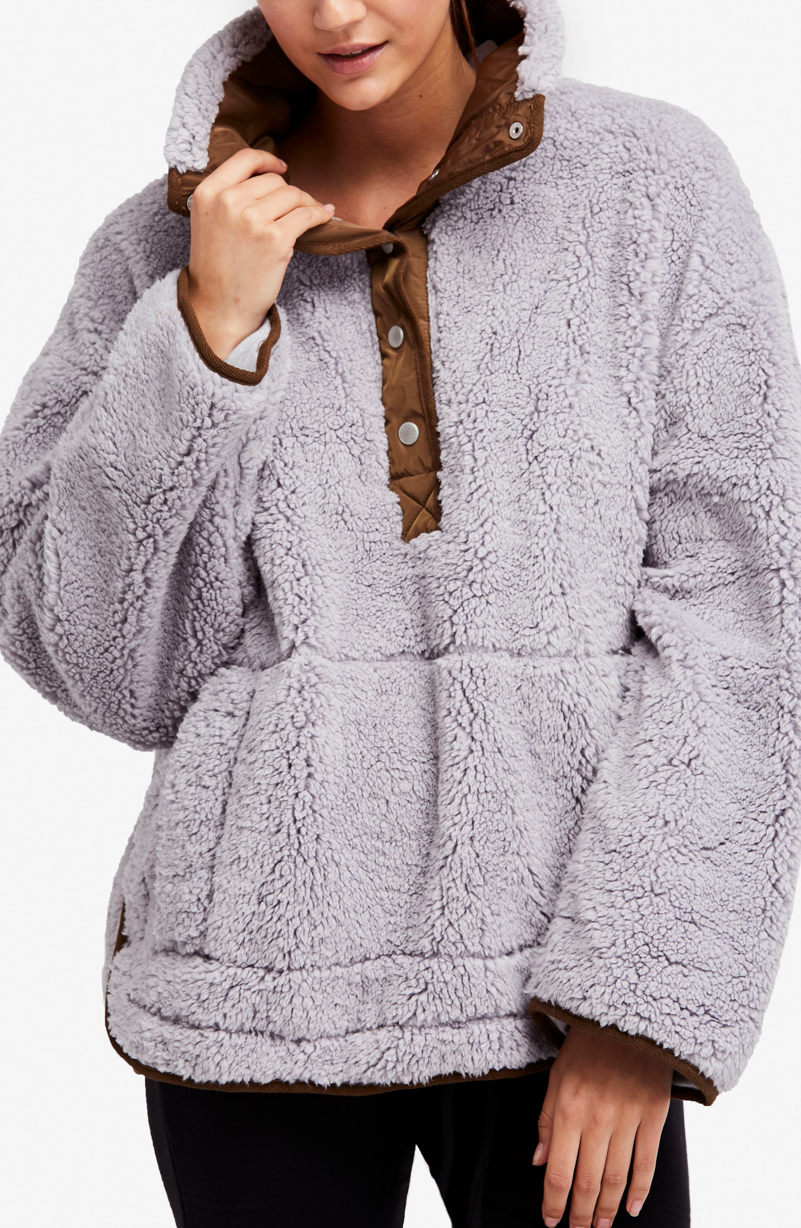 Free People Oh So Cozy Fleece Pullover,                             Alternate thumbnail 2, color,                             Grey