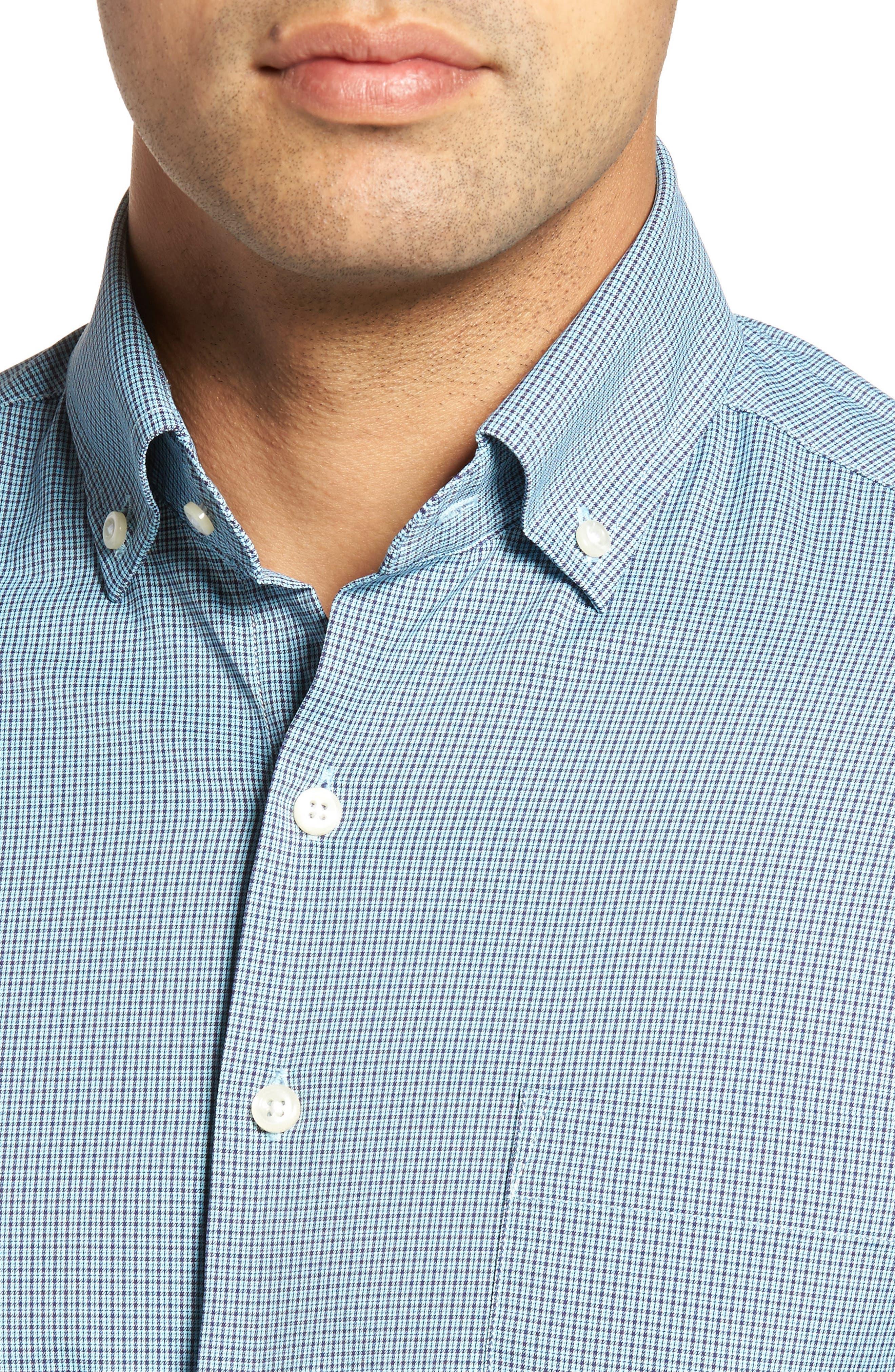 Parsons Regular Fit Performance Sport Shirt,                             Alternate thumbnail 4, color,                             Grotto Blue