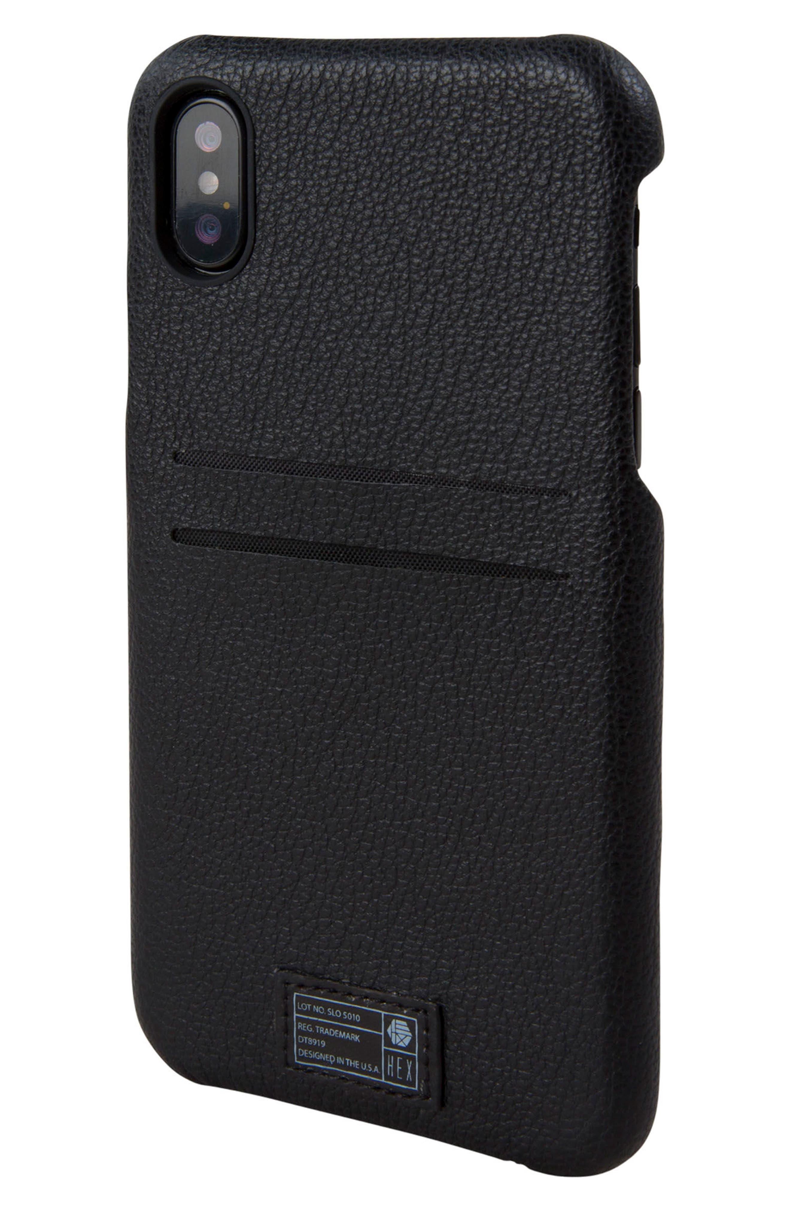 Solo iPhone X Wallet Case,                             Main thumbnail 1, color,                             Black