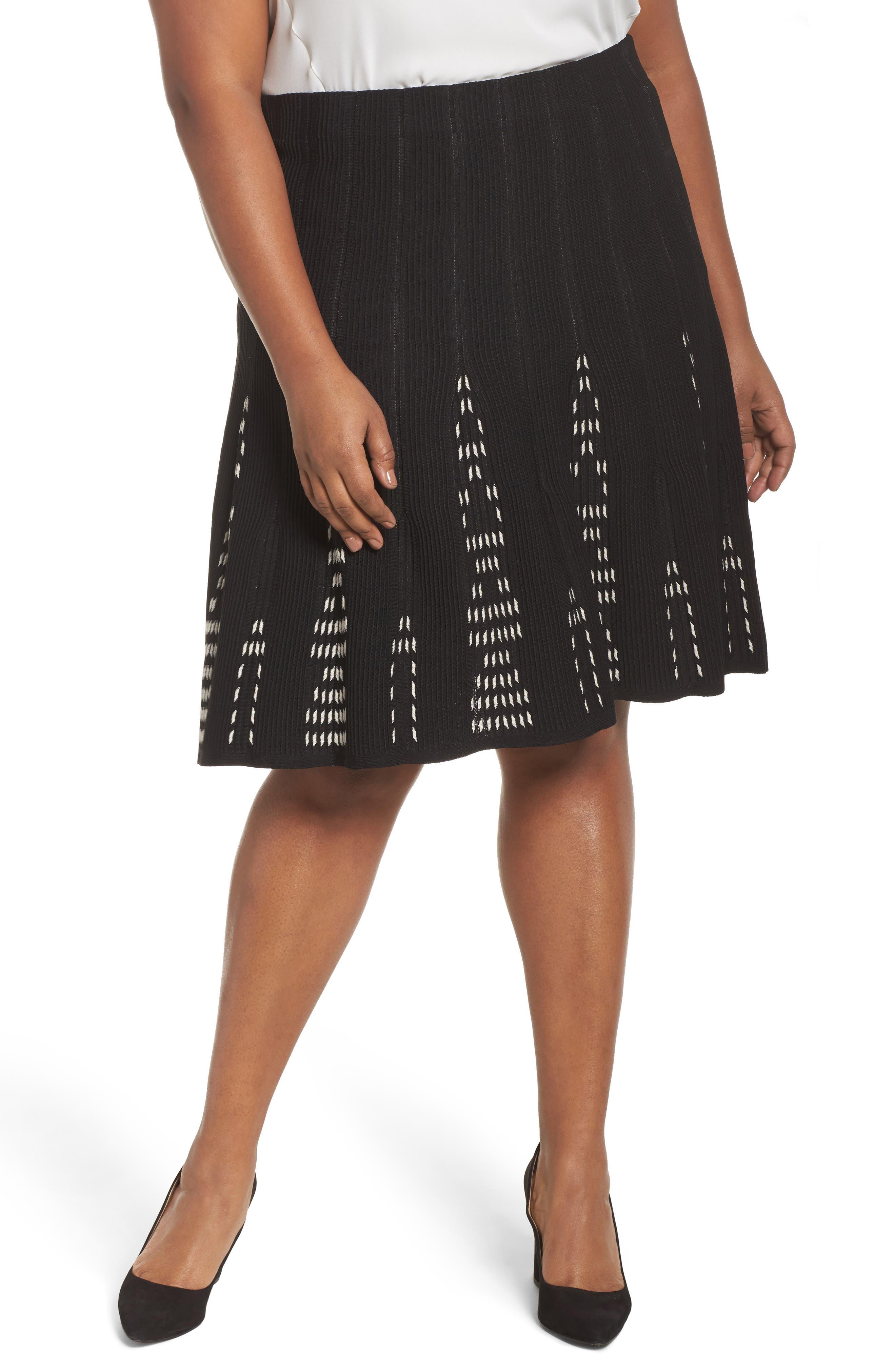 Alternate Image 1 Selected - NIC+ZOE Hypnotic Twirl Skirt (Plus Size)