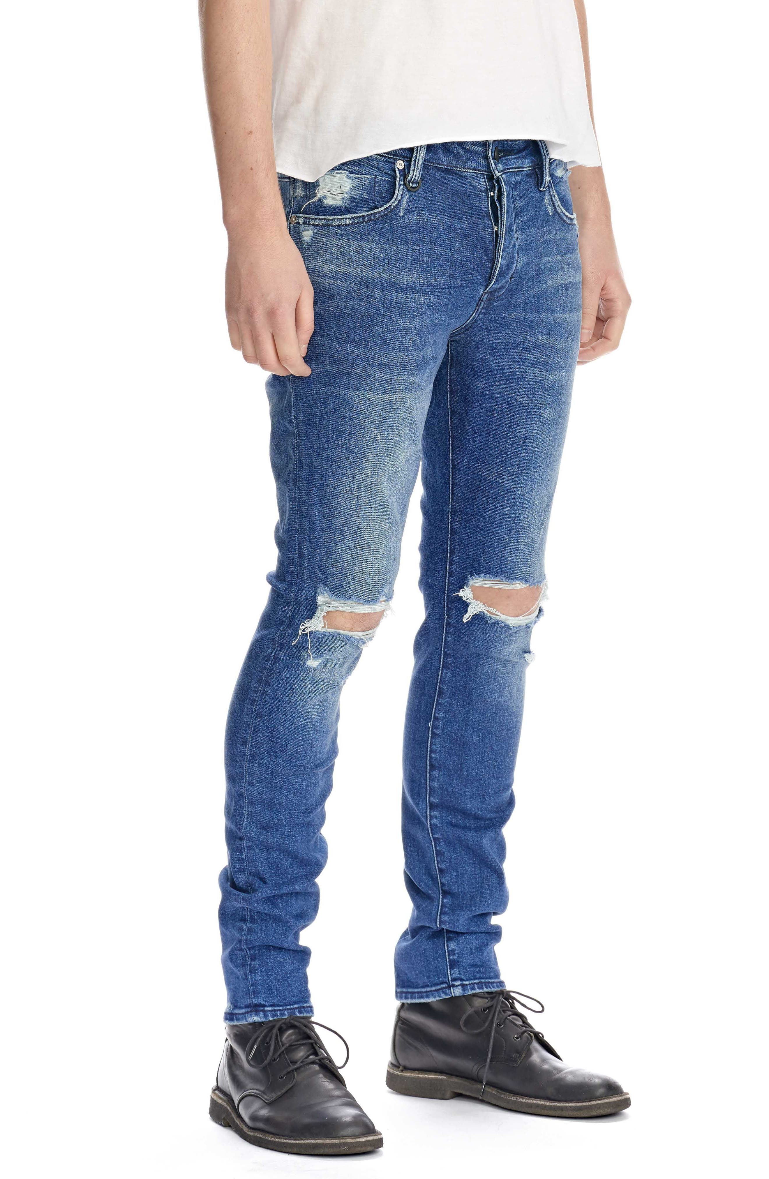 Iggy Skinny Fit Jeans,                             Alternate thumbnail 3, color,                             Exodus
