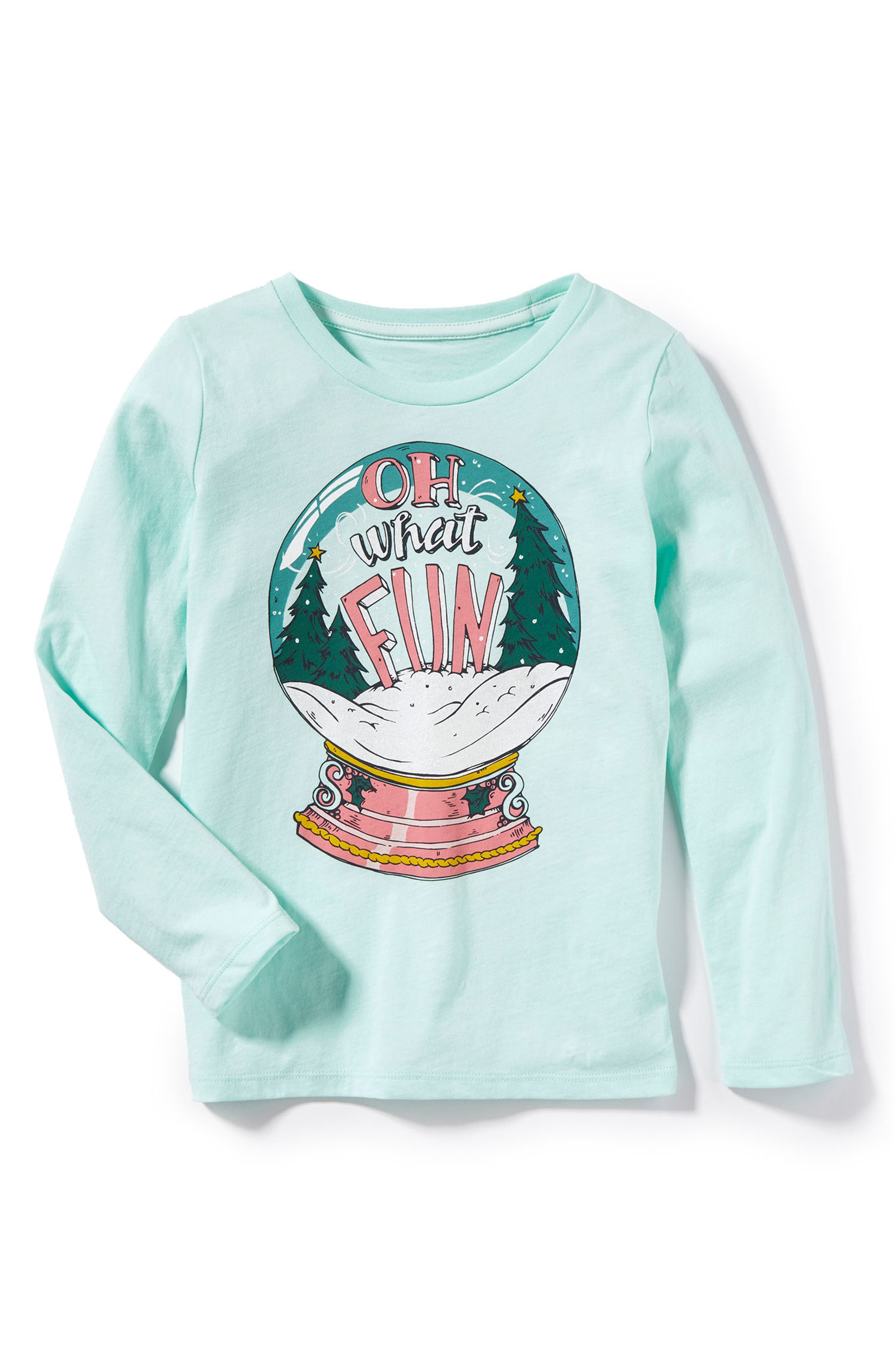 Oh What Fun Graphic Tee,                             Main thumbnail 1, color,                             Mint