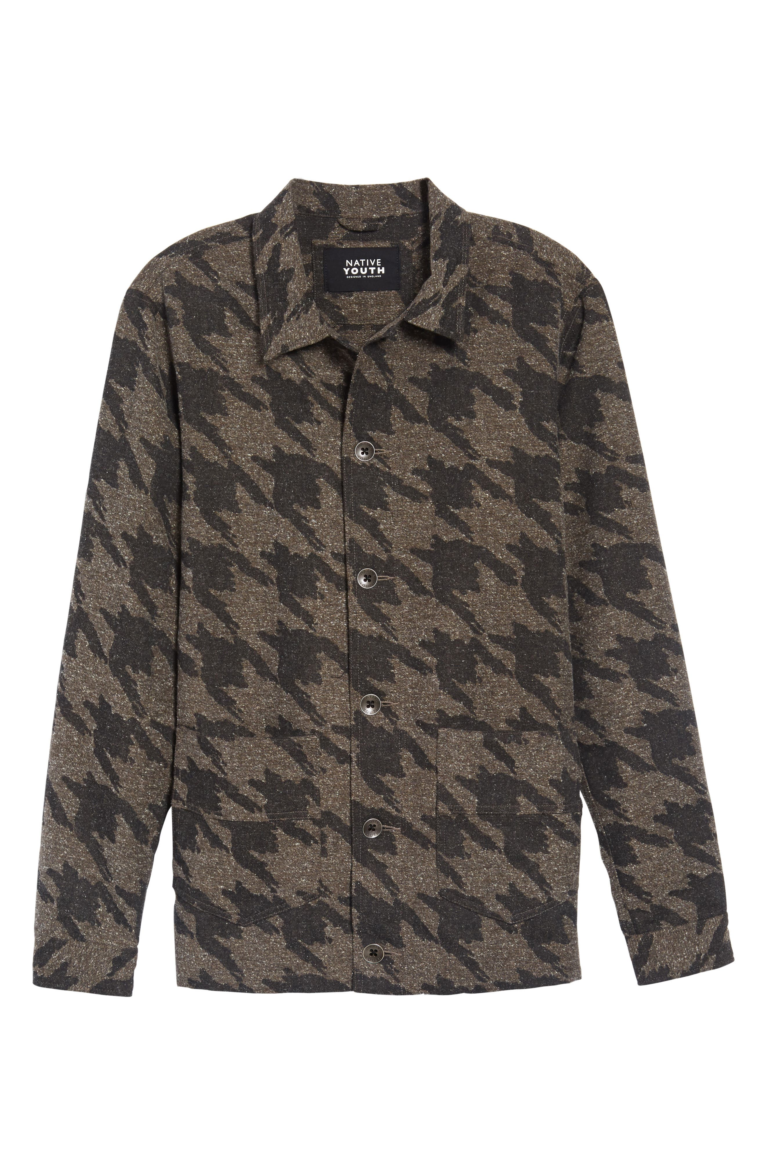 Lynx Shirt Jacket,                             Alternate thumbnail 6, color,                             Charcoal/ Brown