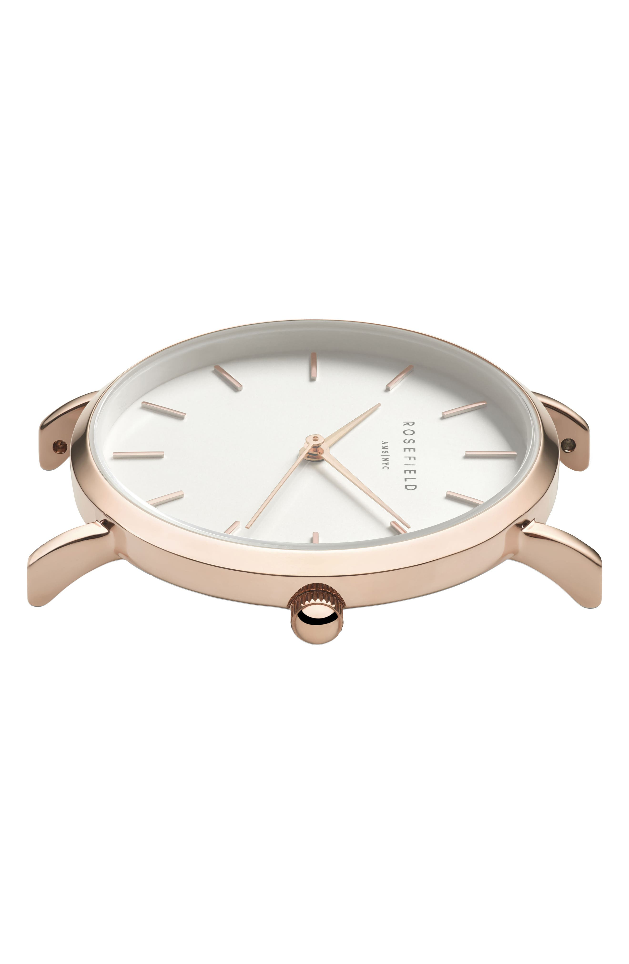Alternate Image 2  - Rosefield Holiday Leather Strap Watch & Bracelet Gift Set, 33mm