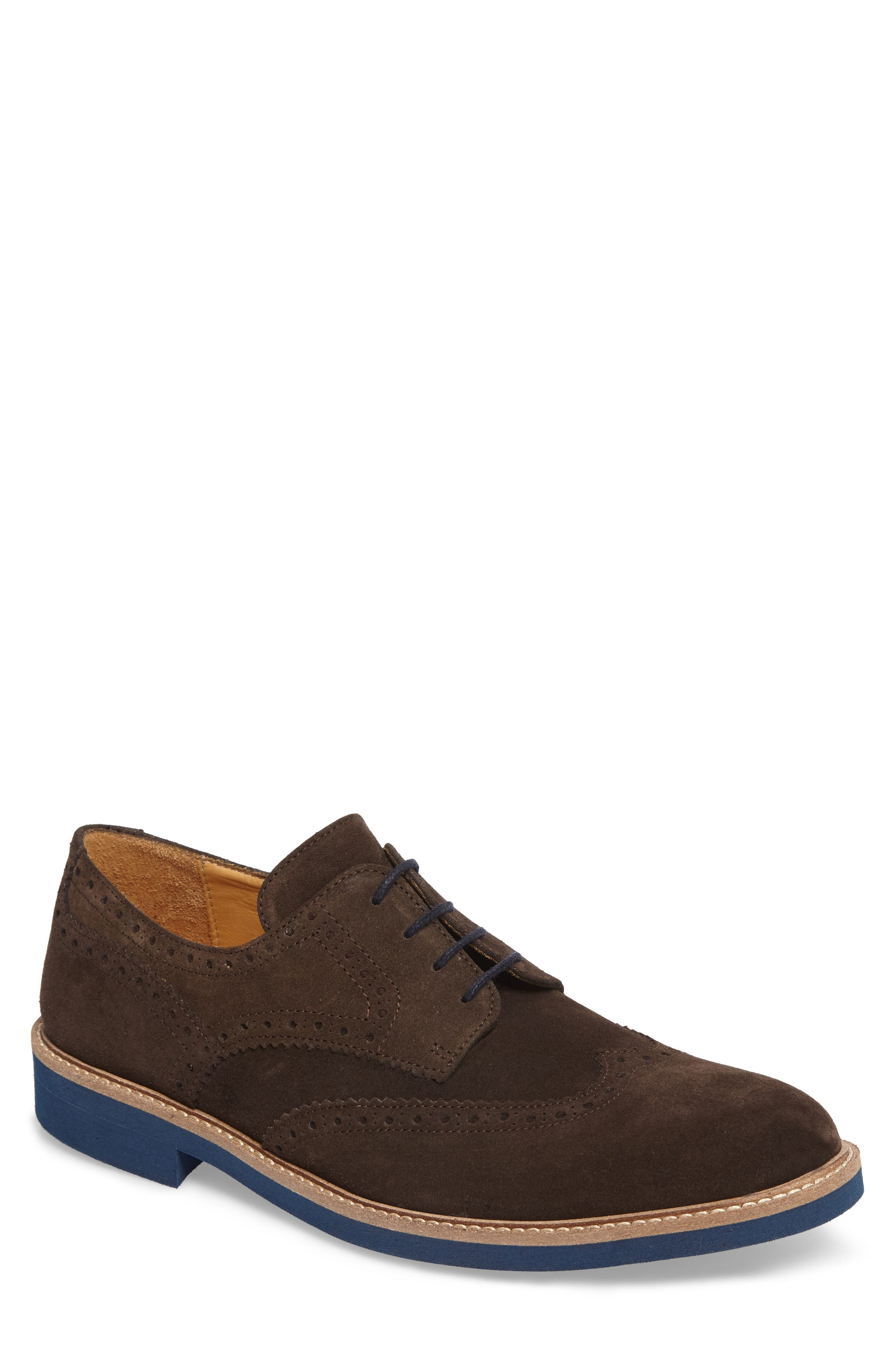 Southports Wingtip,                             Main thumbnail 1, color,                             Brown Suede