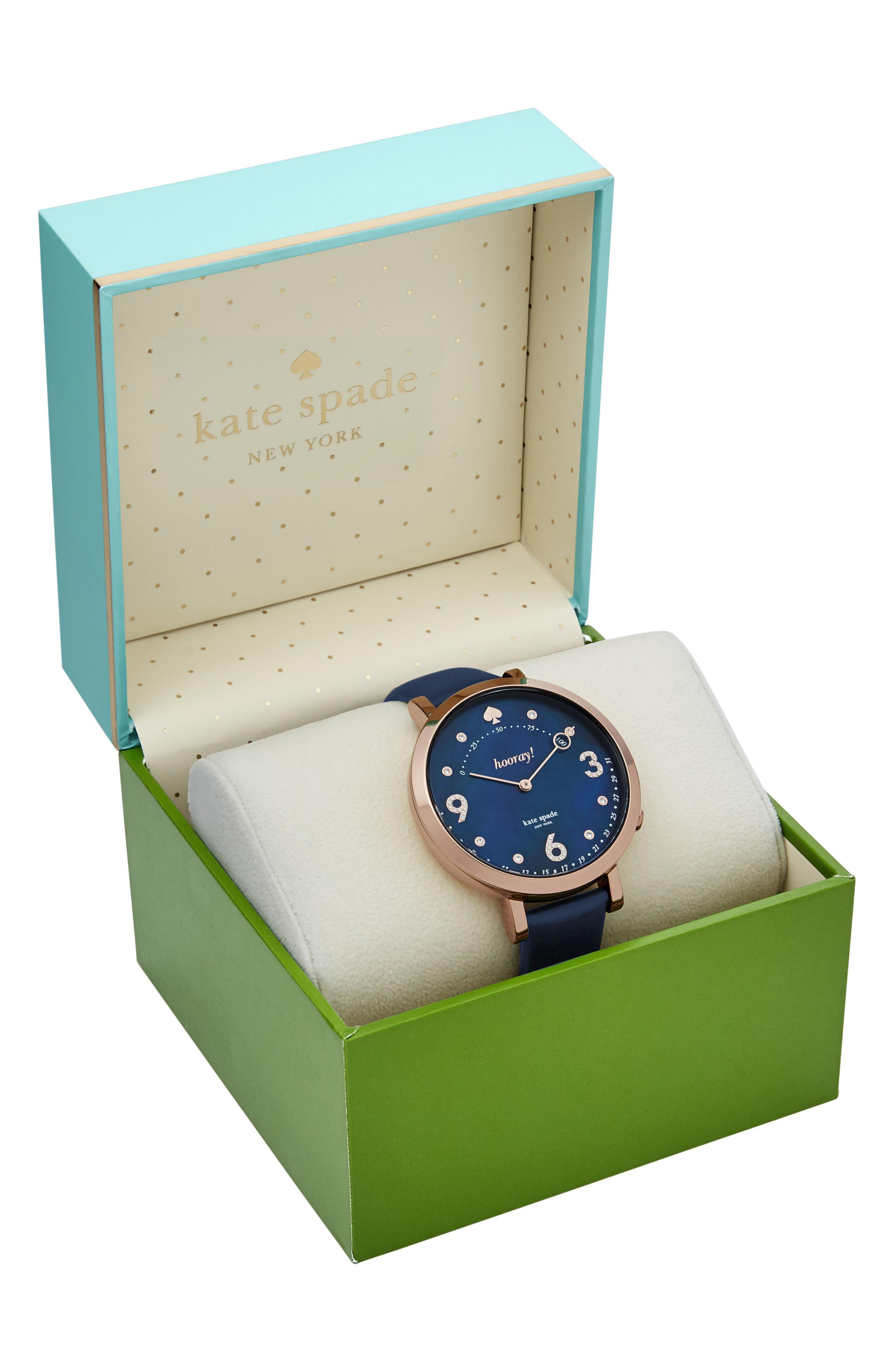 Alternate Image 4  - kate spade new york monterey hybrid leather strap watch, 41mm