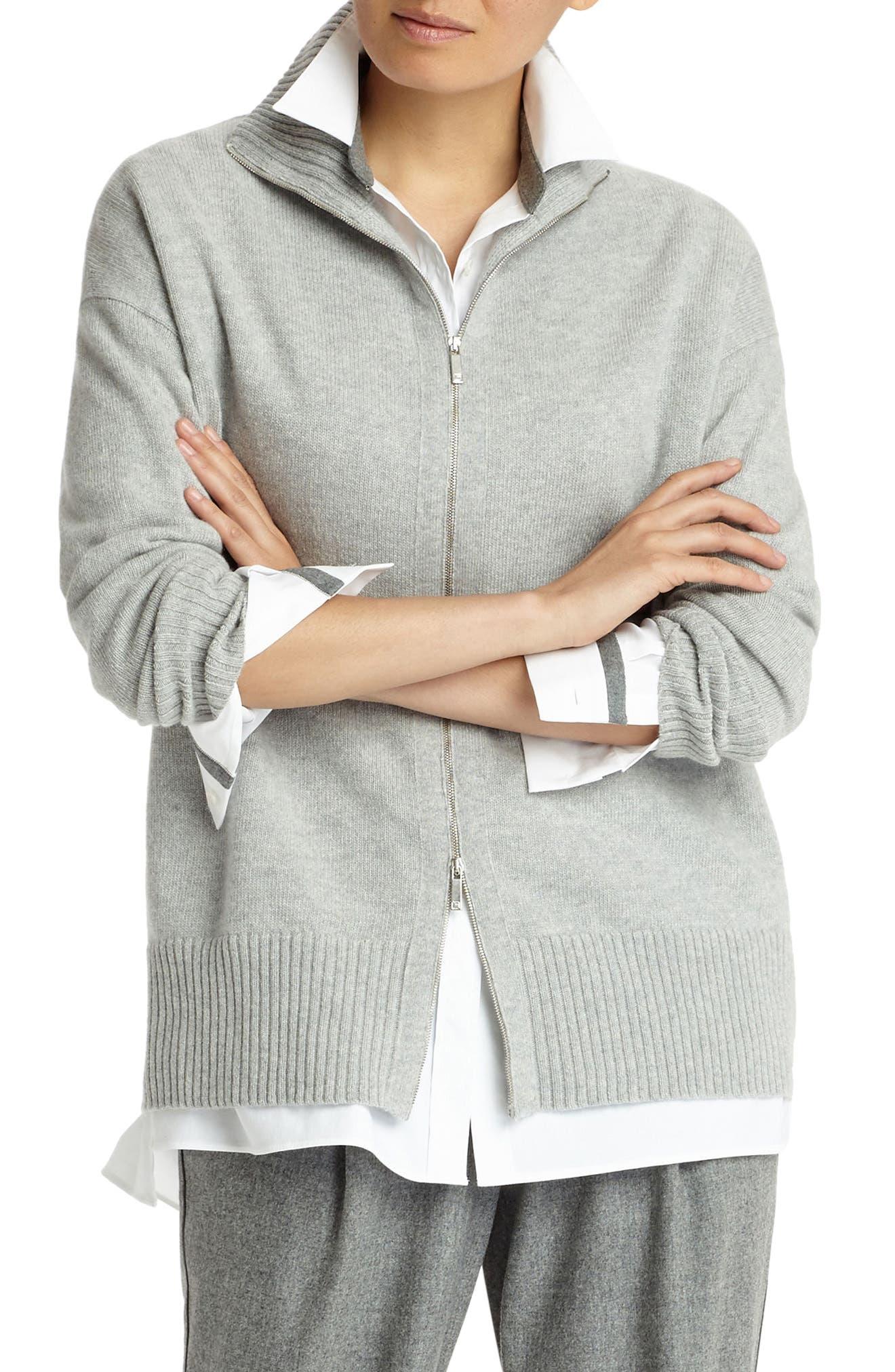 Alternate Image 5  - Lafayette 148 New York Luxe Merino Wool & Cashmere Sweater Jacket