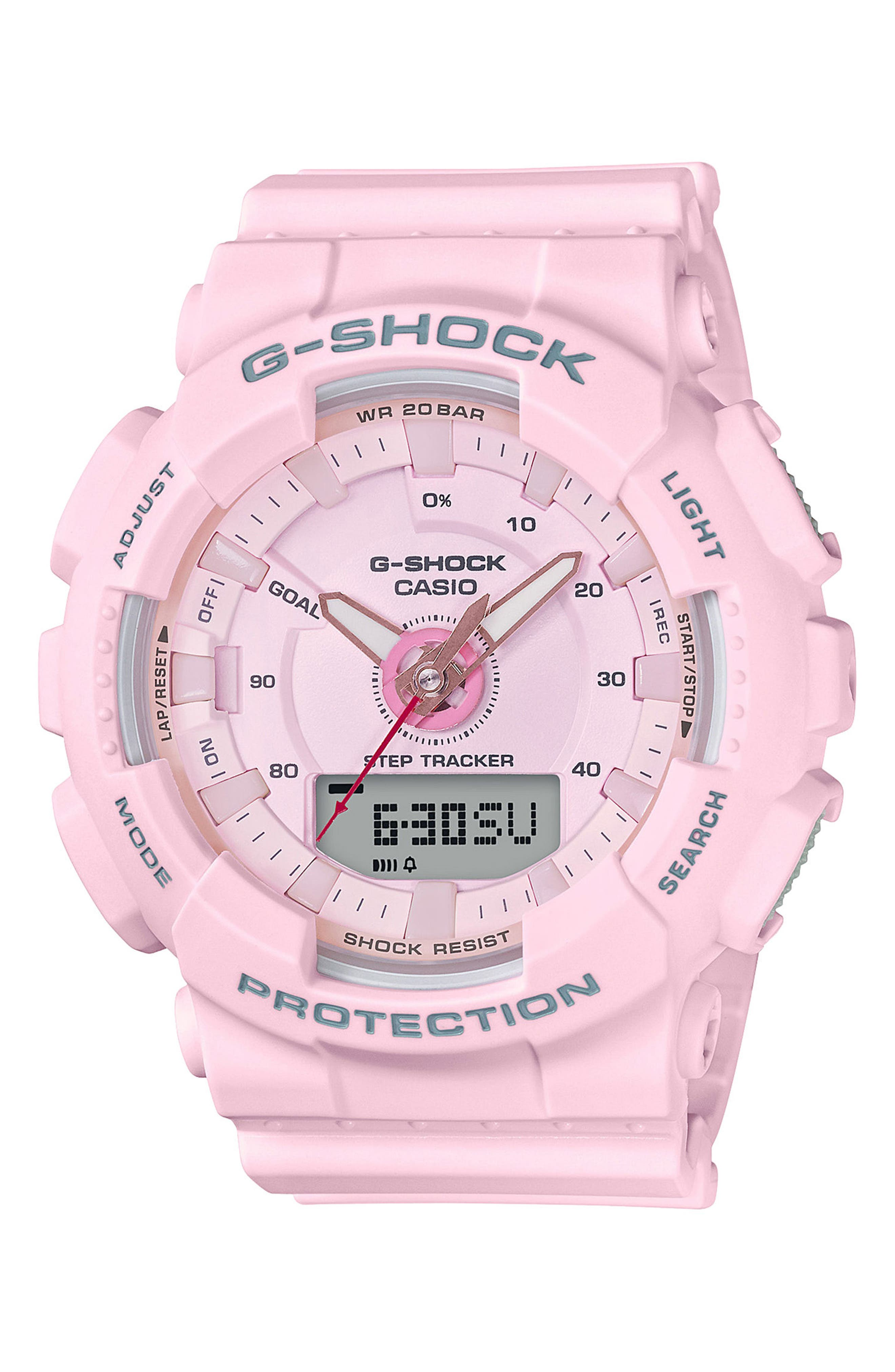 S-Series Resin Ana-Digi Watch, 46mm,                         Main,                         color, Pink