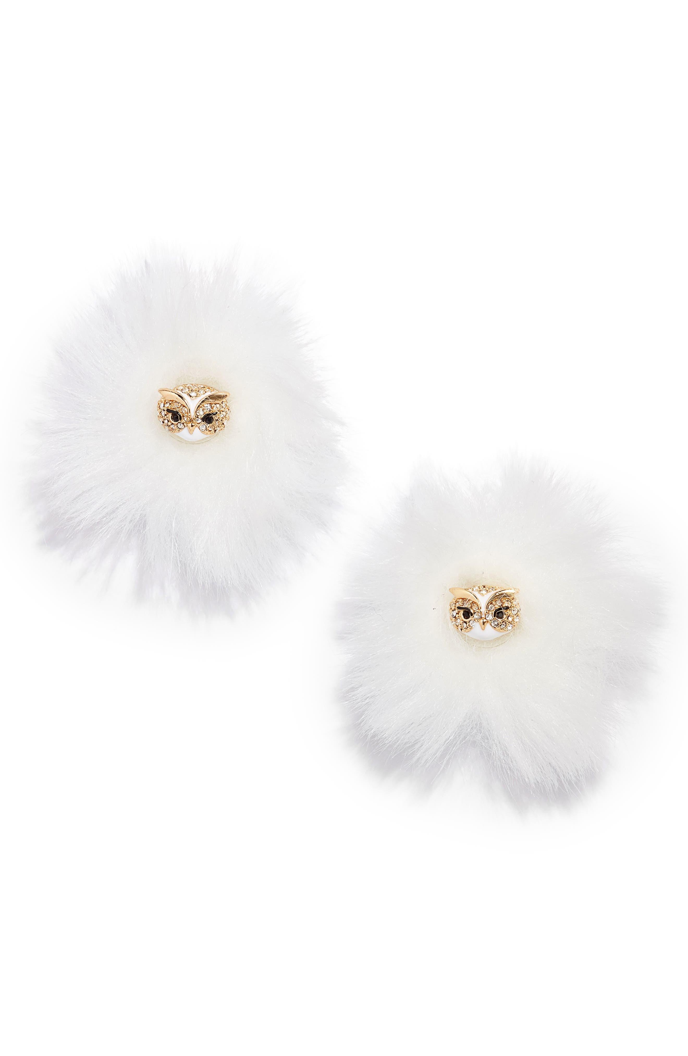 Alternate Image 1 Selected - kate spade new york star bright owl reversible stud earrings