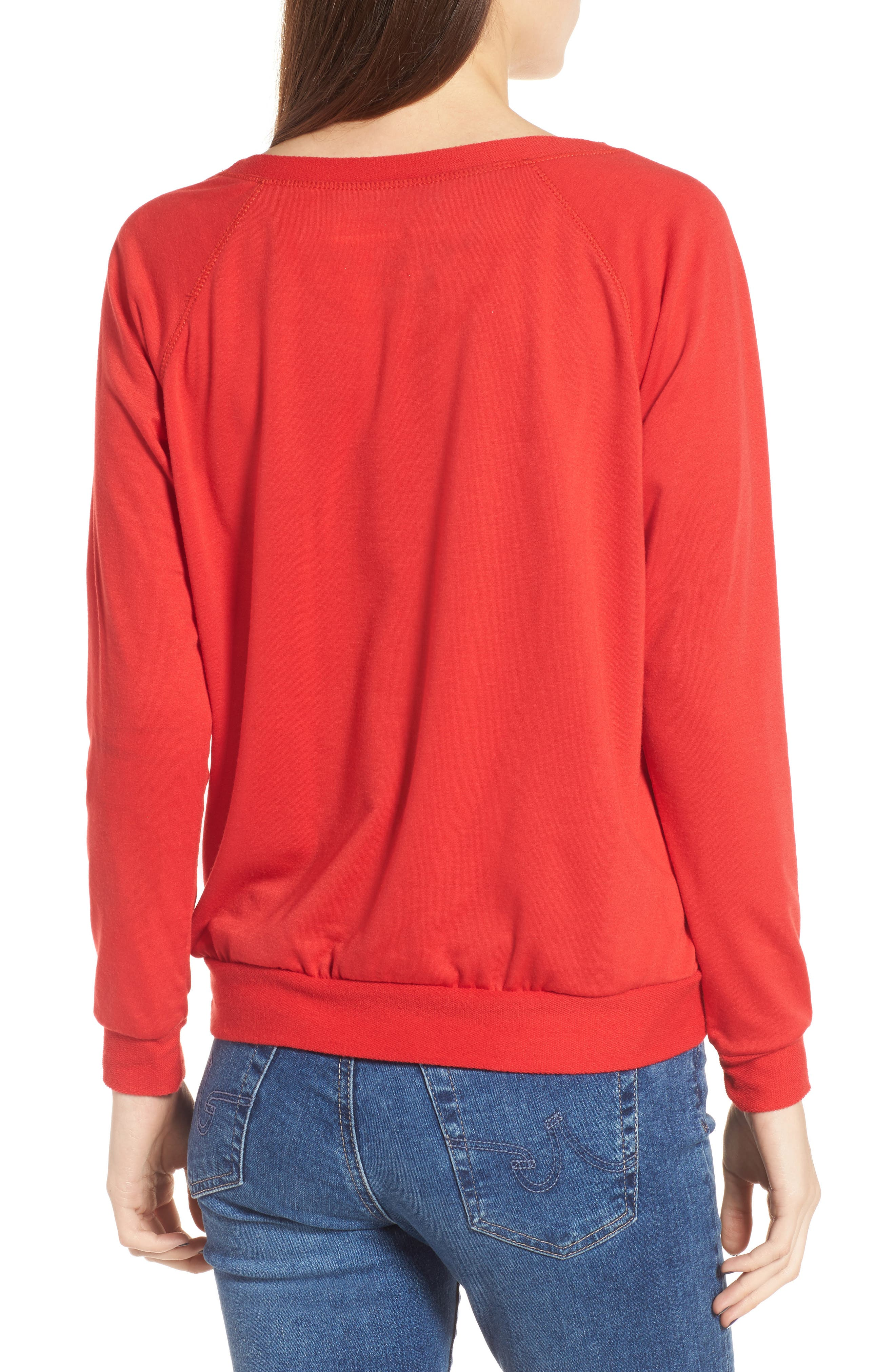 Oh Snap Sweatshirt,                             Alternate thumbnail 2, color,                             Red
