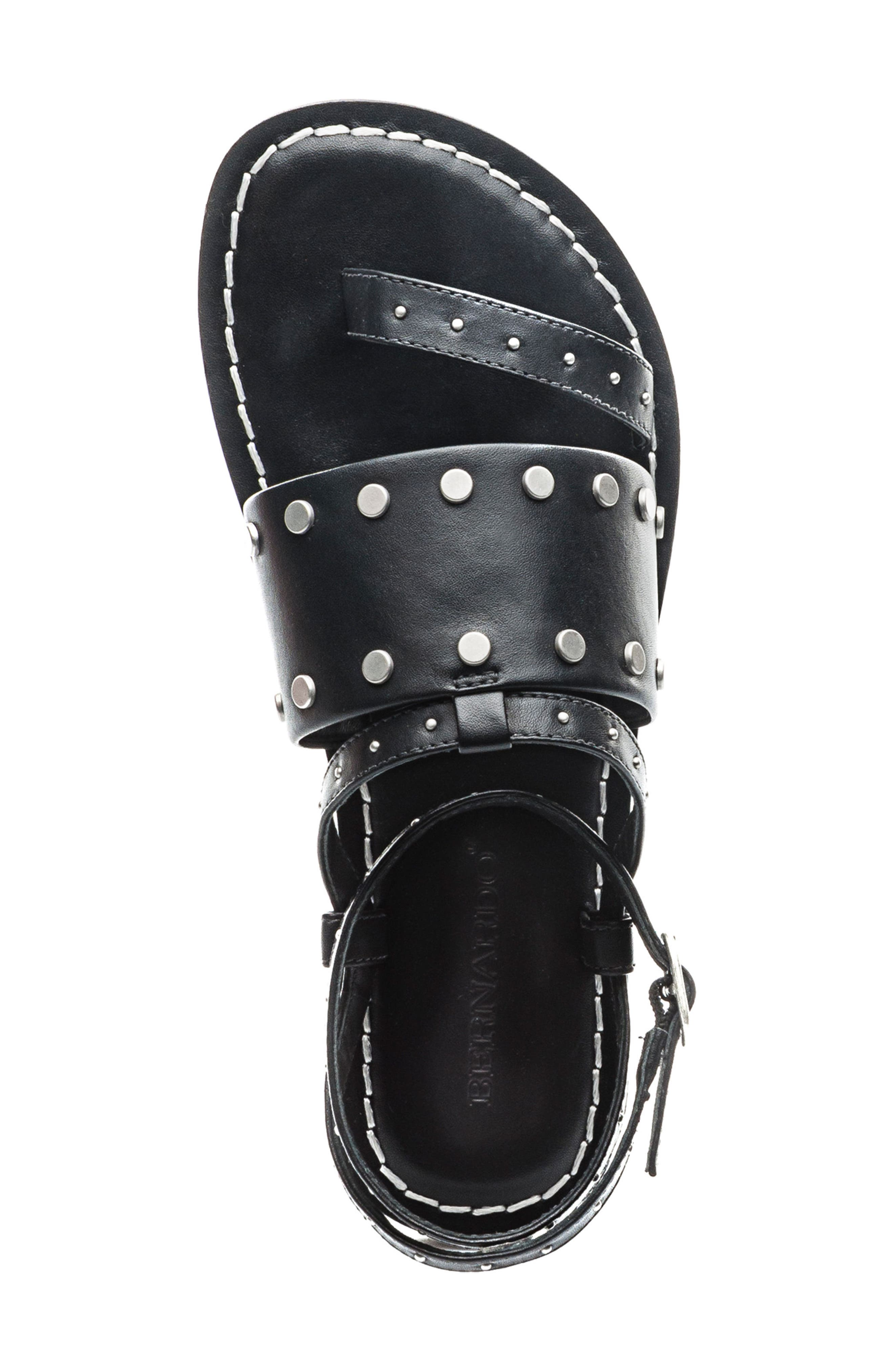 Bernardo Maisa Sandal,                             Alternate thumbnail 5, color,                             Black Leather
