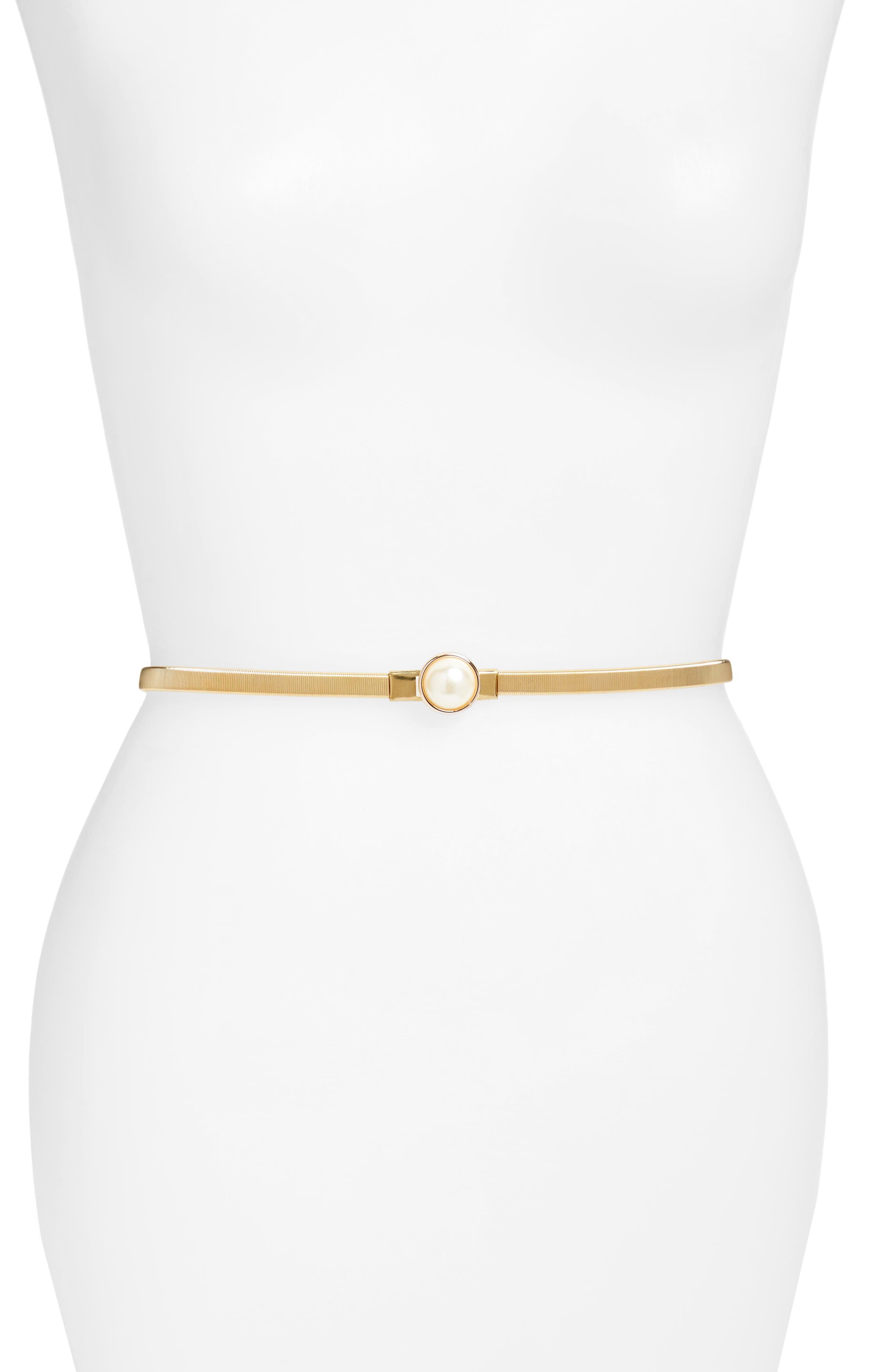 Este Stretch Coil Belt,                         Main,                         color, Gold
