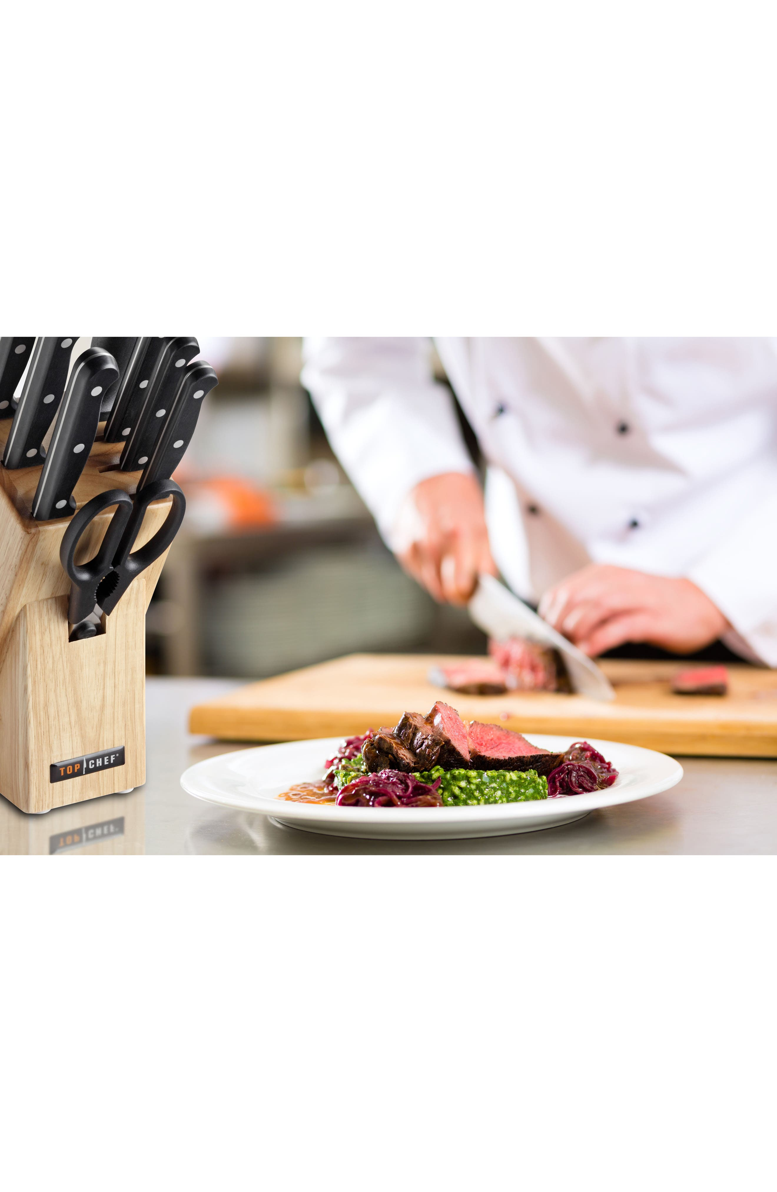 Alternate Image 2  - TOP CHEF Classic 9-Piece Knife Block Set