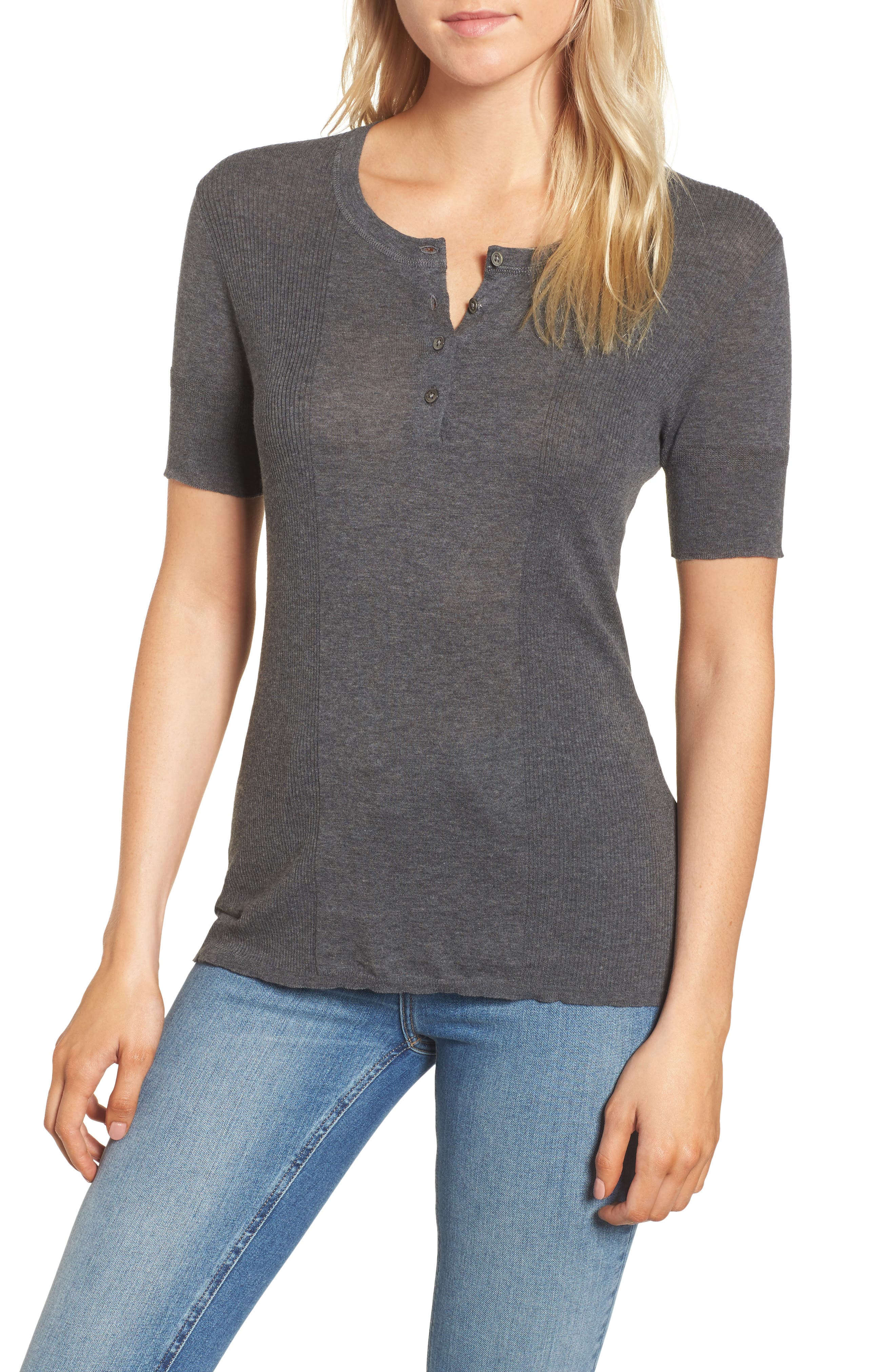 James Perse Cotton Henley Sweater