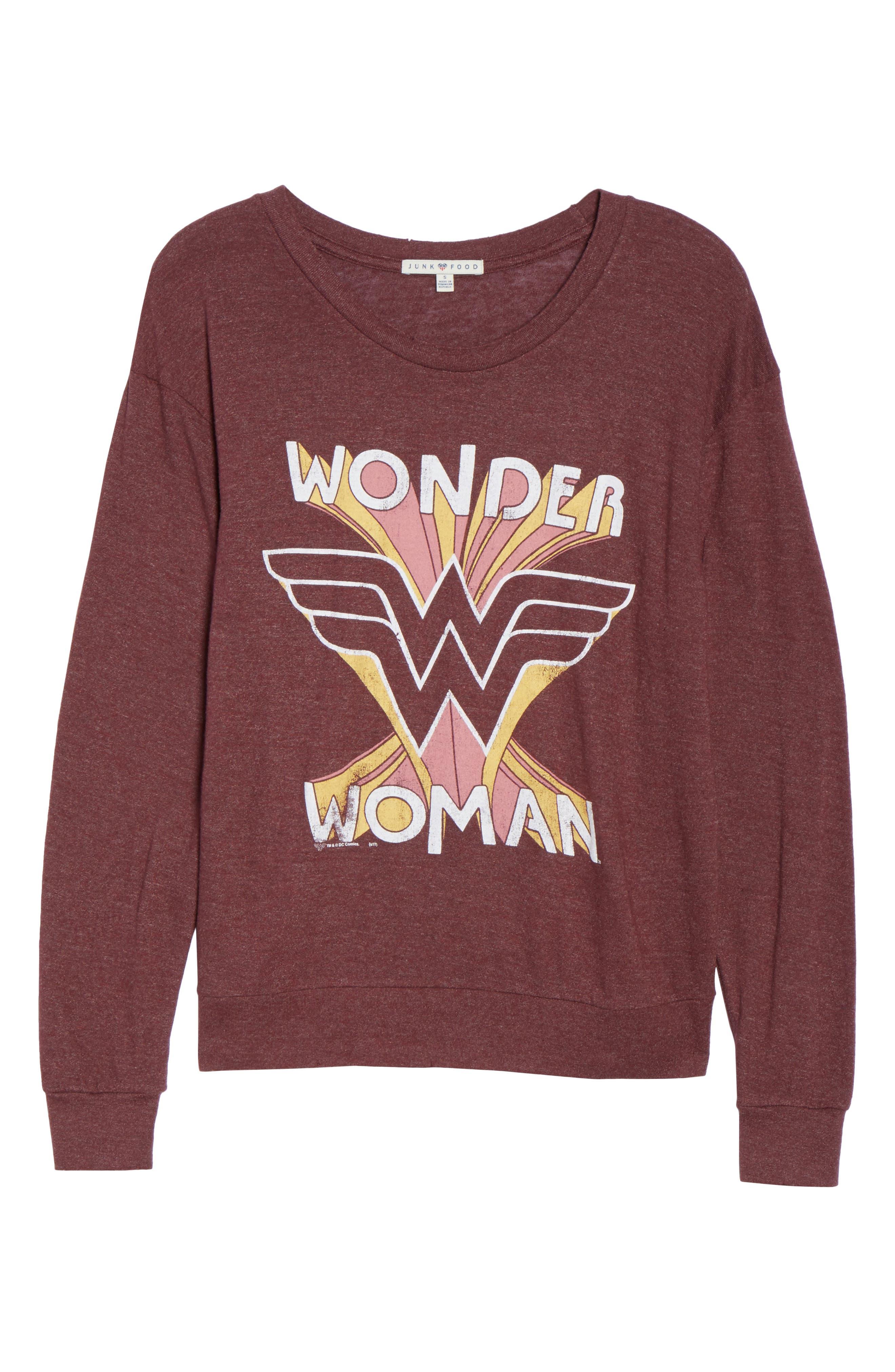 Wonder Woman Sweatshirt,                             Alternate thumbnail 4, color,                             Saint