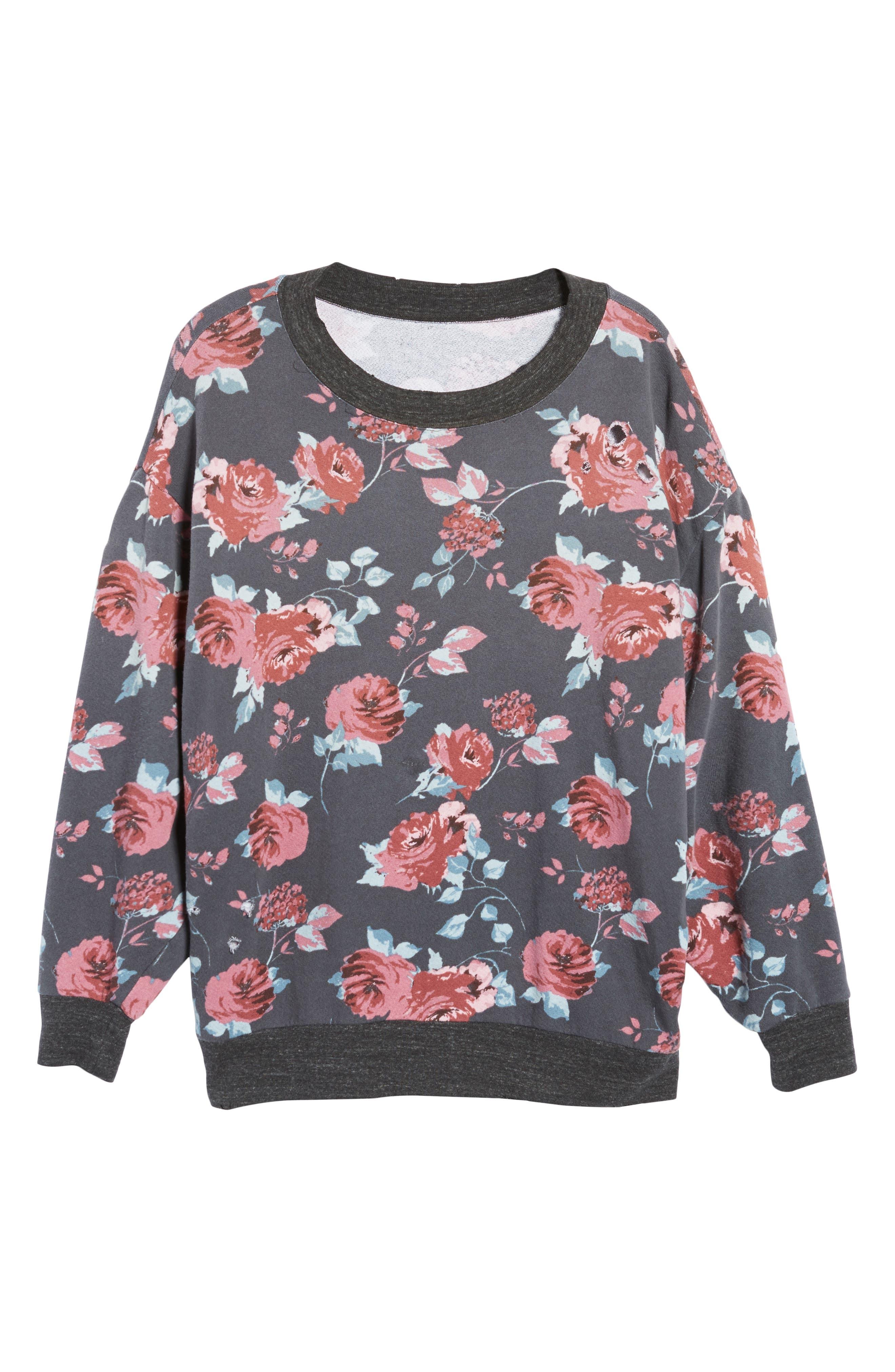 Chelsea Sweatshirt,                             Alternate thumbnail 6, color,                             Pitch Black