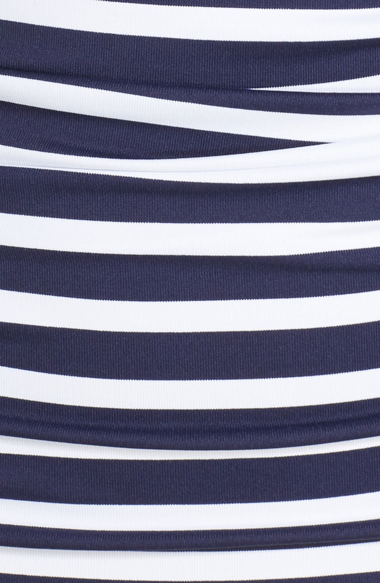 Breton Stripe Tankini Top,                             Alternate thumbnail 5, color,                             Mare Navy/ White