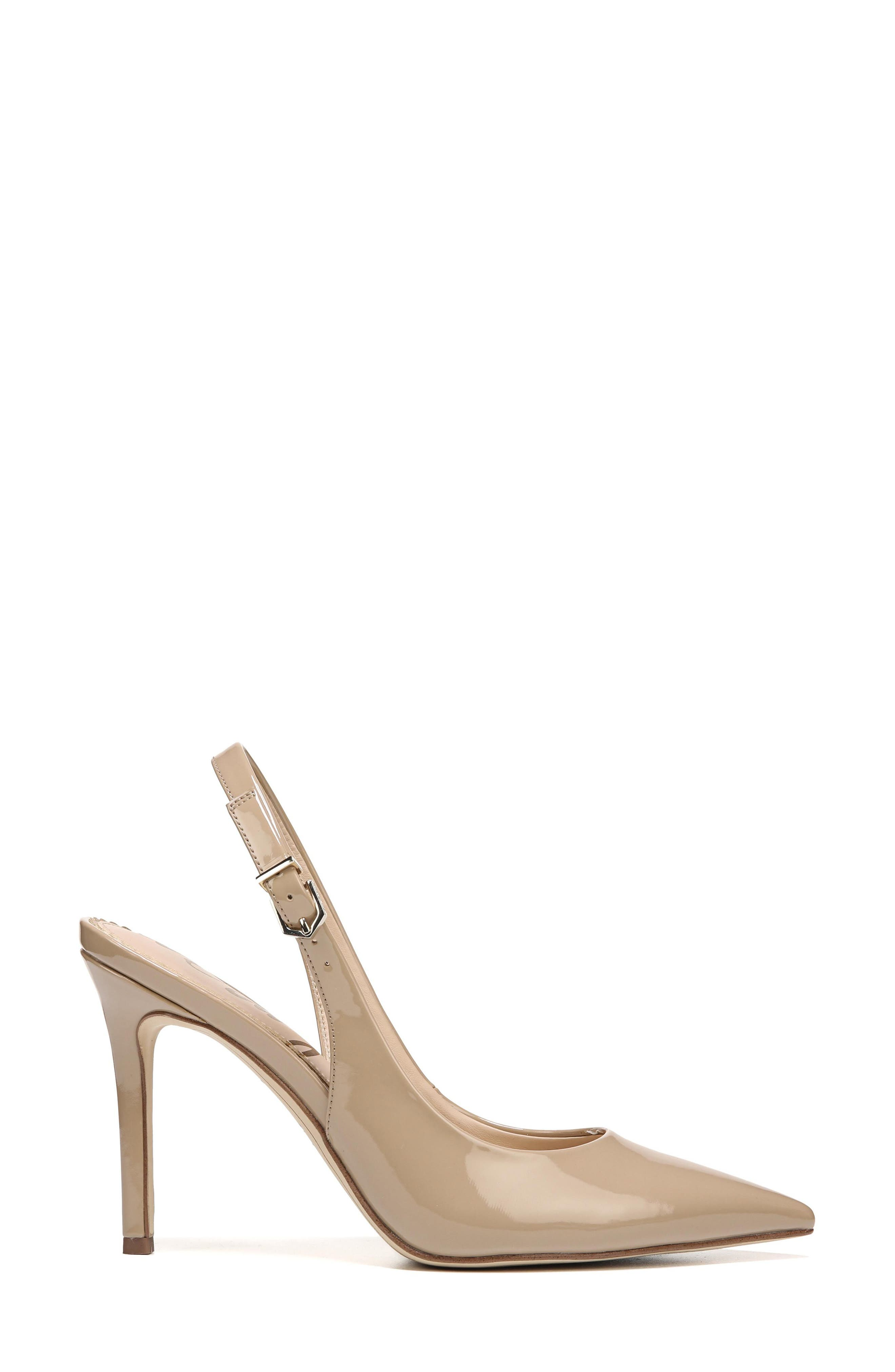 Hastings Slingback Pump,                             Alternate thumbnail 3, color,                             Classic Nude Patent Leather